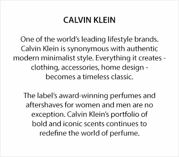 Calvin Klein Eternity Air text