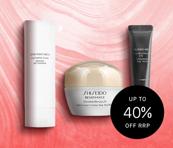 Shiseido Up to 40% Off RRP