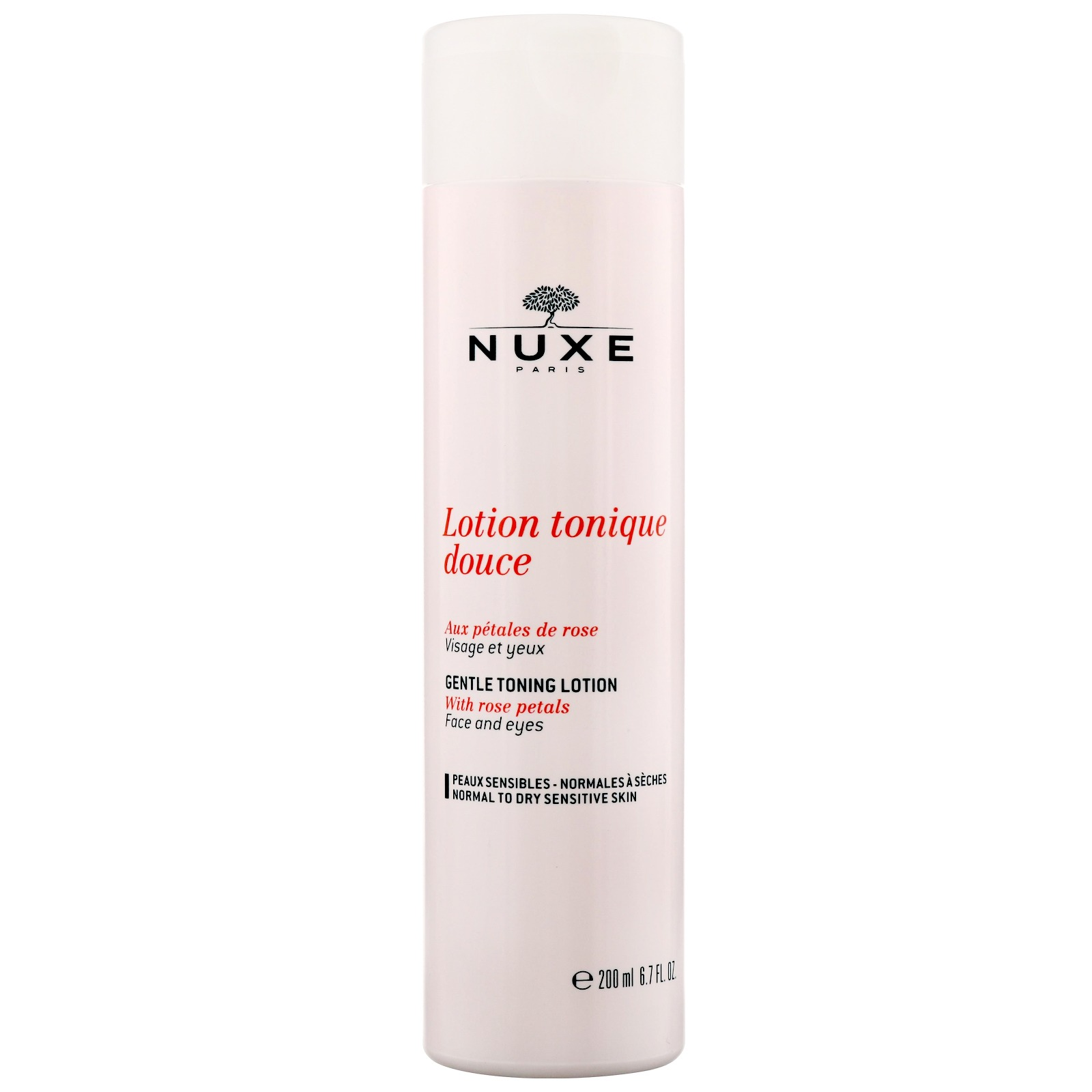 Nuxe Sensitive Skin Gentle Toning Lotion Face and Eyes With Rose Petals 200ml