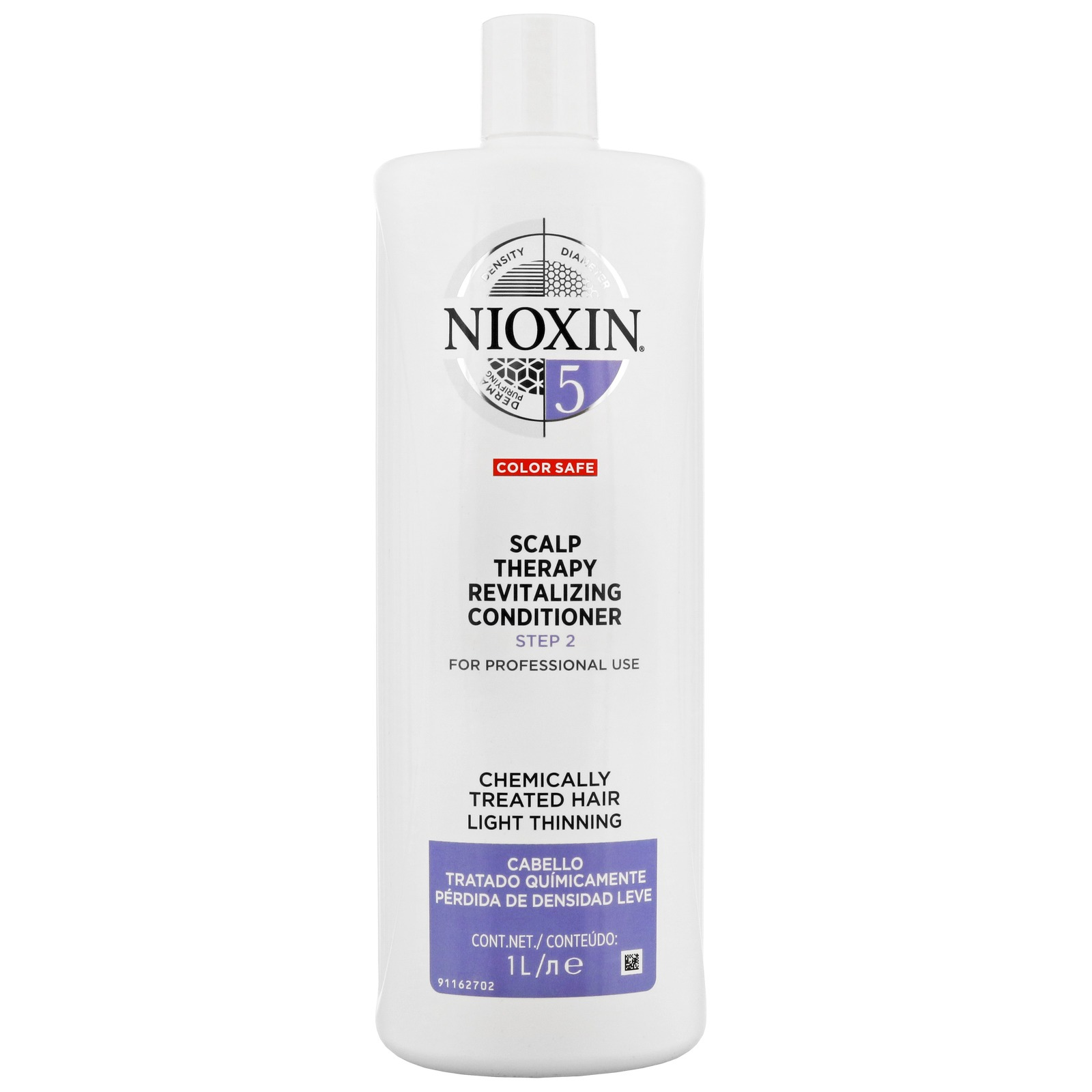 Nioxin 3D Care System  System 5 Step 2 Color Safe Scalp Therapy Revitalizing Conditioner: For Chemically Treated Hair And Light Thinning 1000ml