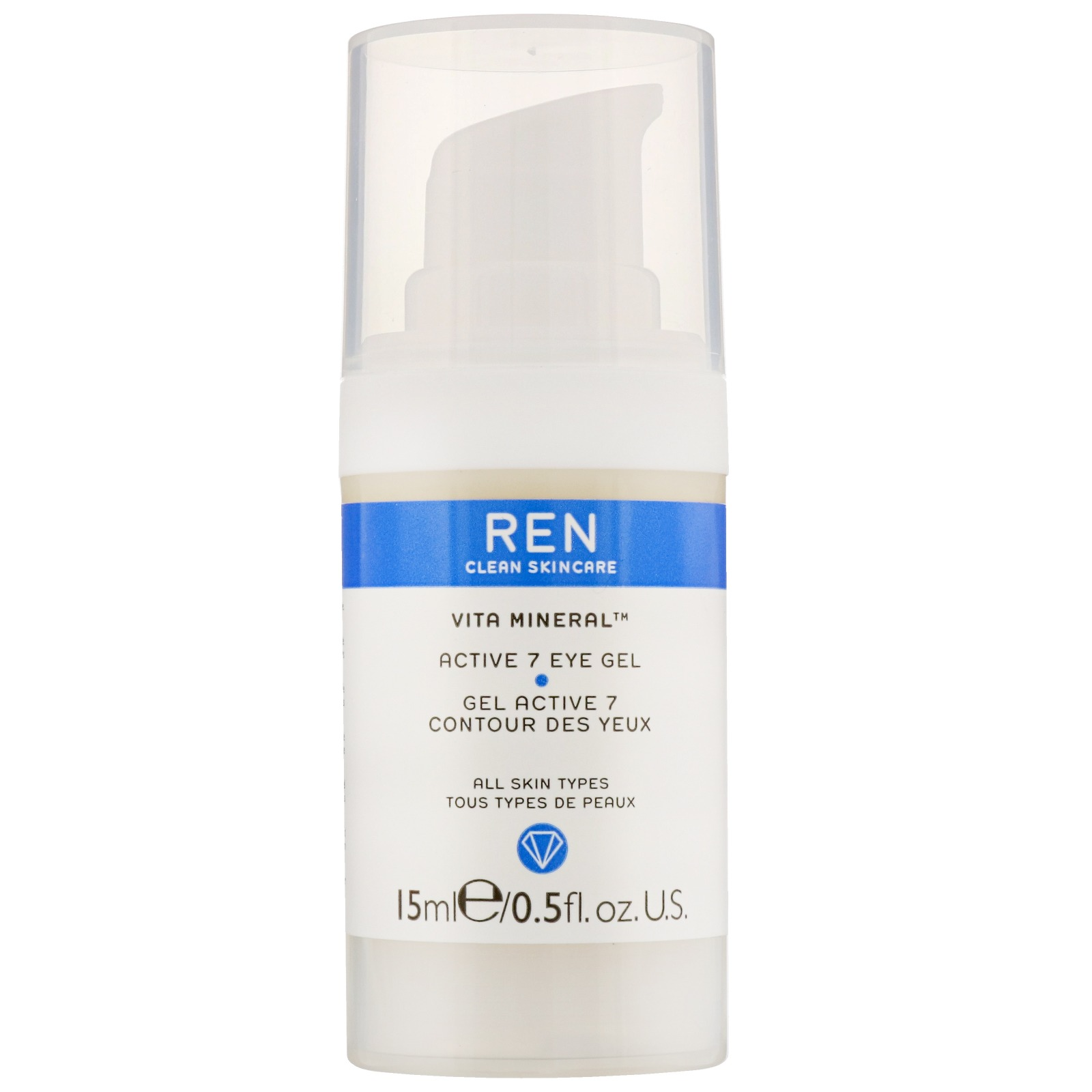 REN Clean Skincare Face Vita Mineral Active 7 Eye Gel 15ml / 0.5 fl.oz.
