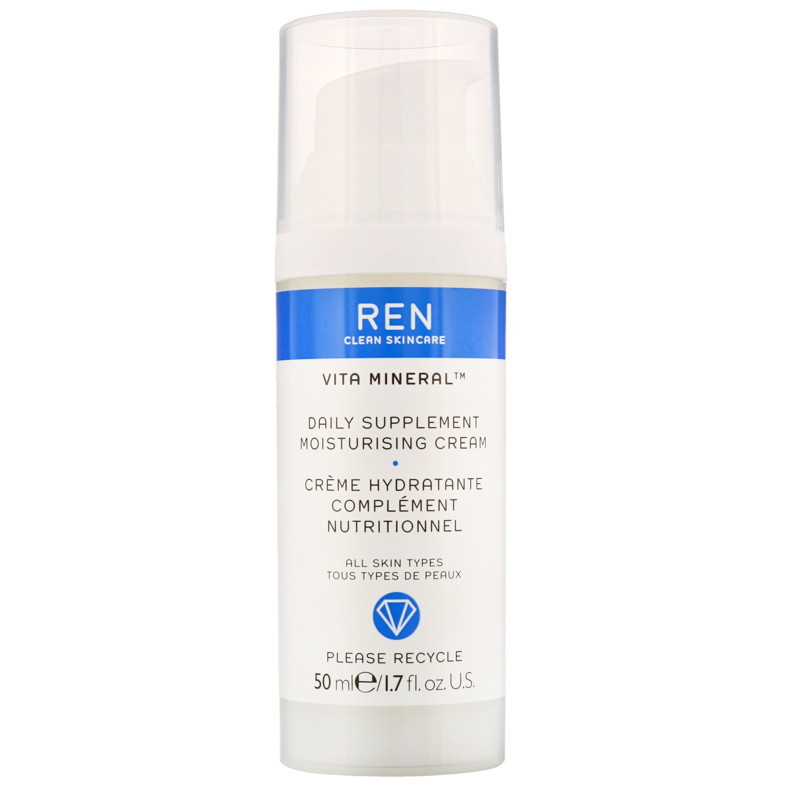 REN Clean Skincare Face Vita Mineral Daily Supplement Moisturising Cream 50ml / 1.7 fl.oz.