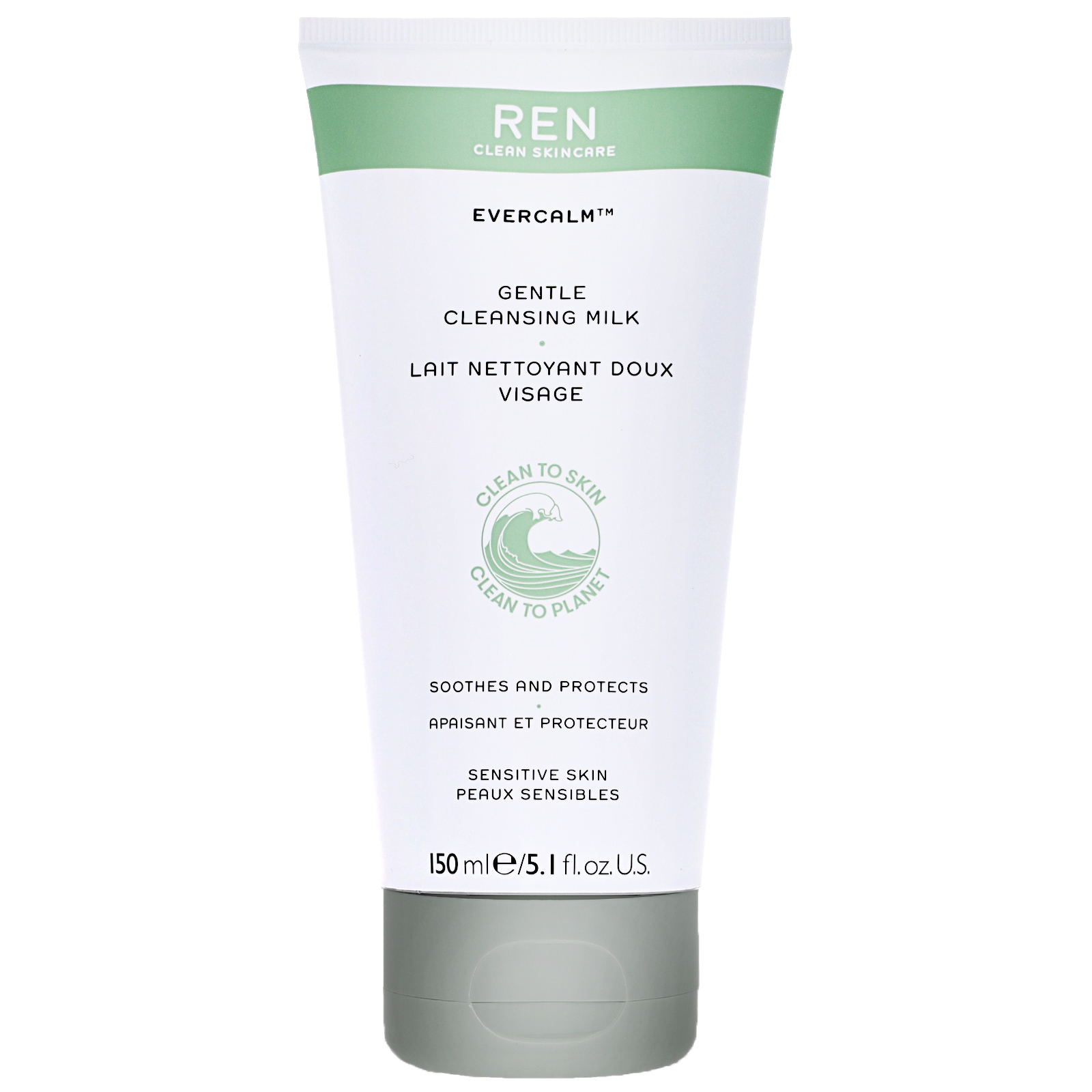 REN Clean Skincare Face Evercalm Gentle Cleansing Milk 150ml / 5.1 fl.oz.