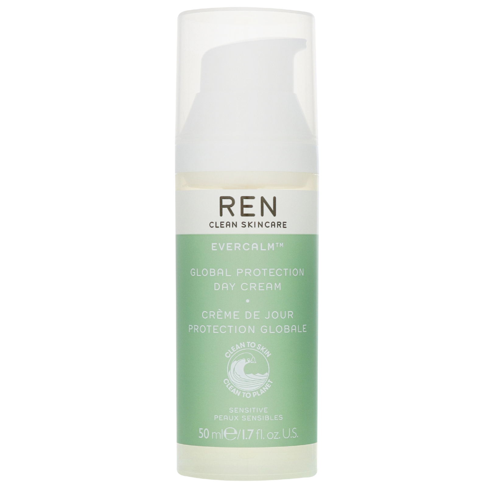 REN Clean Skincare Face Evercalm Global Protection Day Cream 50ml / 1.7 fl.oz.