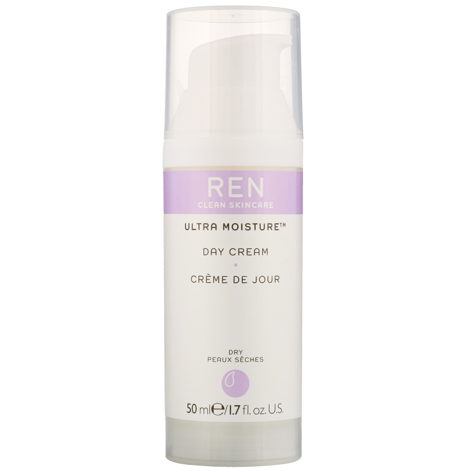 REN Clean Skincare Face Ultra Moisture Day Cream 50ml / 1.7 fl.oz.