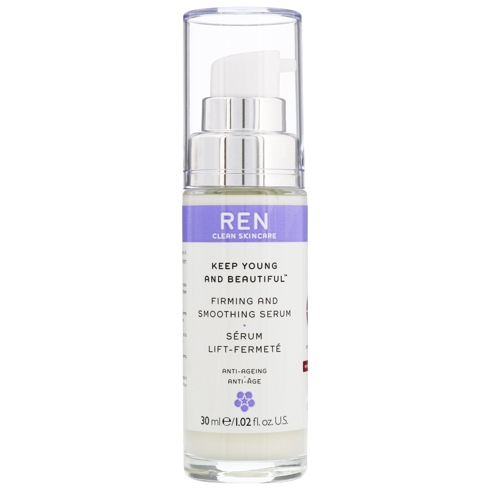 REN Clean Skincare Face Keep Young and Beautiful Firming and Smoothing Serum 30ml / 1.02 fl.oz.
