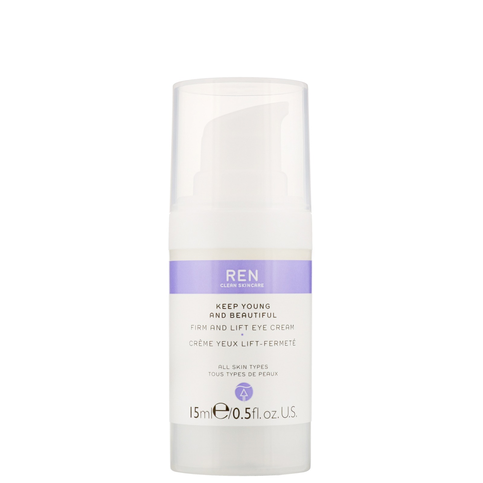 REN Clean Skincare Face Keep Young and Beautiful Firm and Lift Eye Cream 15ml / 0.5 fl.oz.