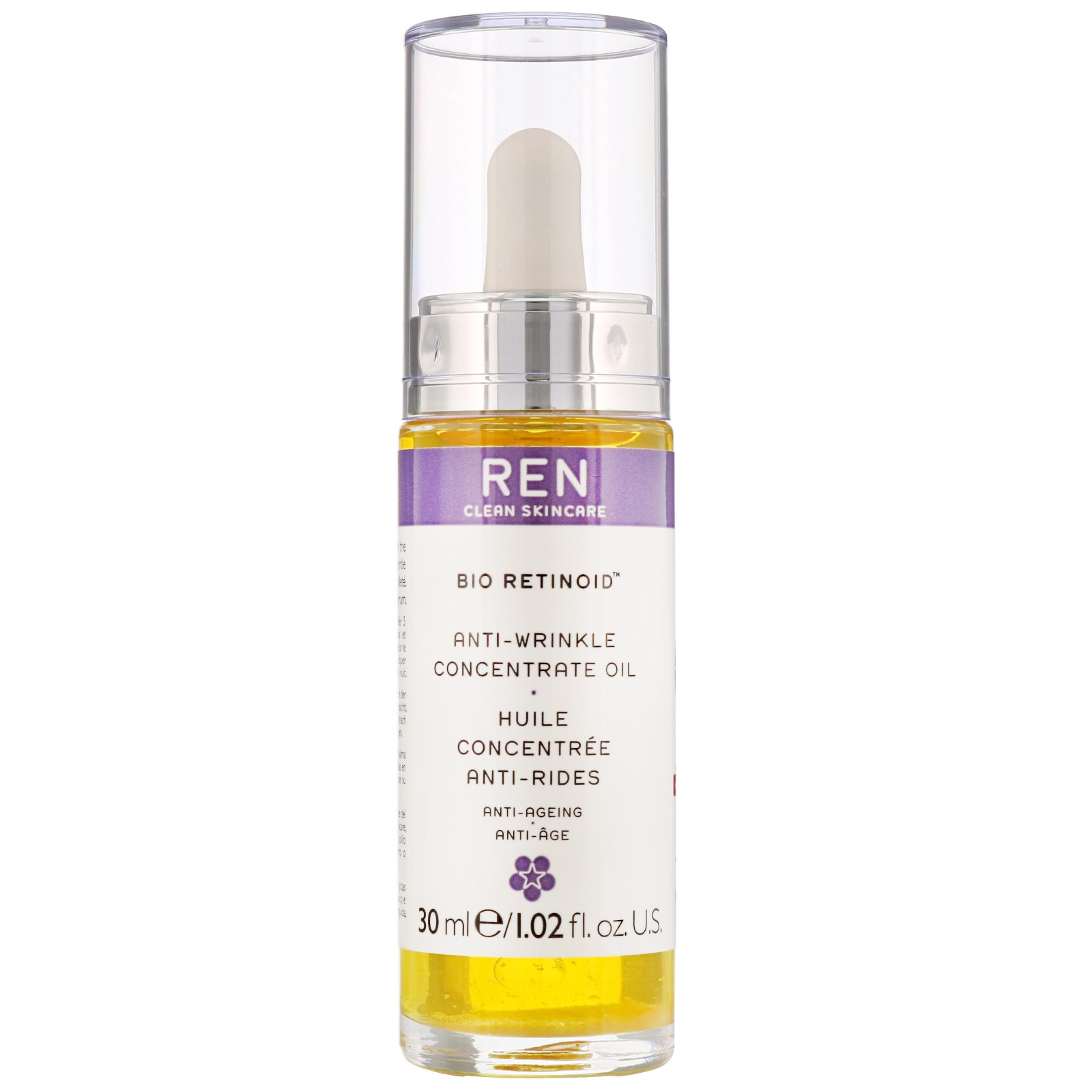REN Clean Skincare Face Bio Retinoid Anti-Wrinkle Concentrate Oil 30ml / 1.02 fl.oz.