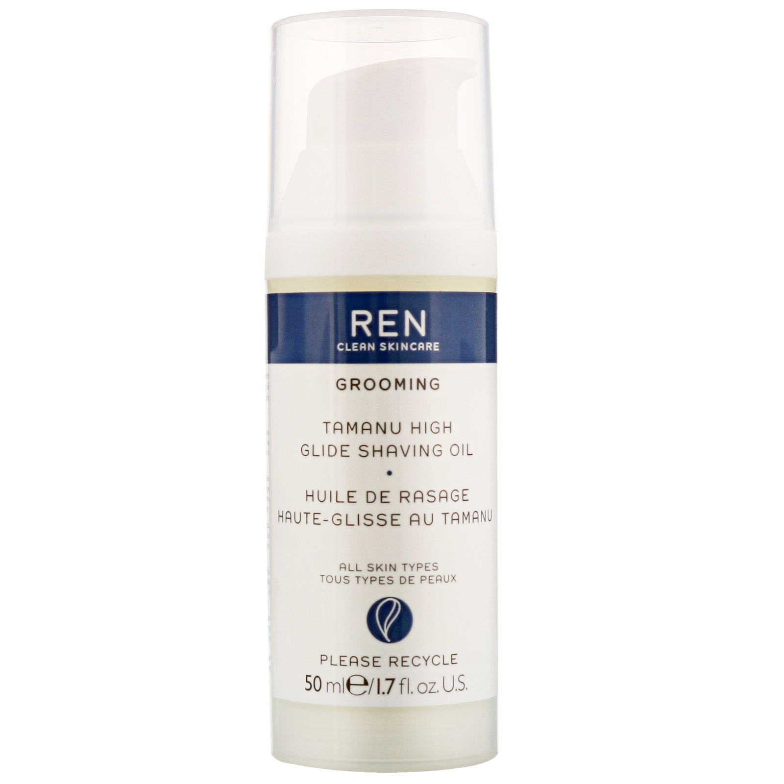 REN Clean Skincare Men Tamanu High Glide Shaving Oil 50ml / 1.7 fl.oz.
