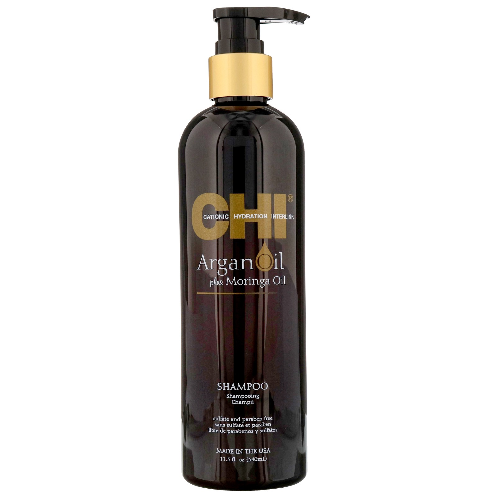 CHI Argan Oil Plus Moringa Oil Shampoo 340ml