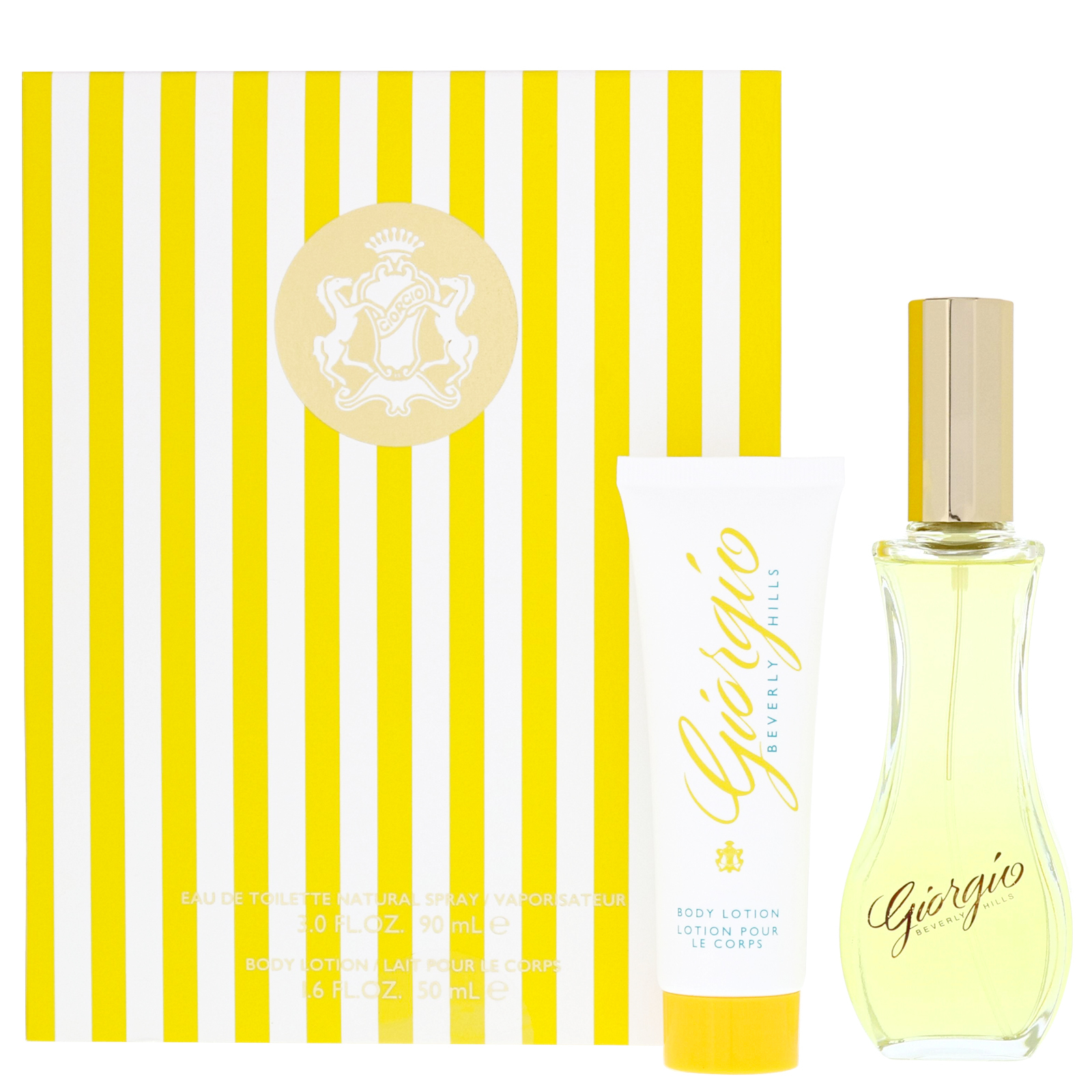 Giorgio Beverly Hills Giorgio Yellow Eau de Toilette Spray 90ml Gift Set