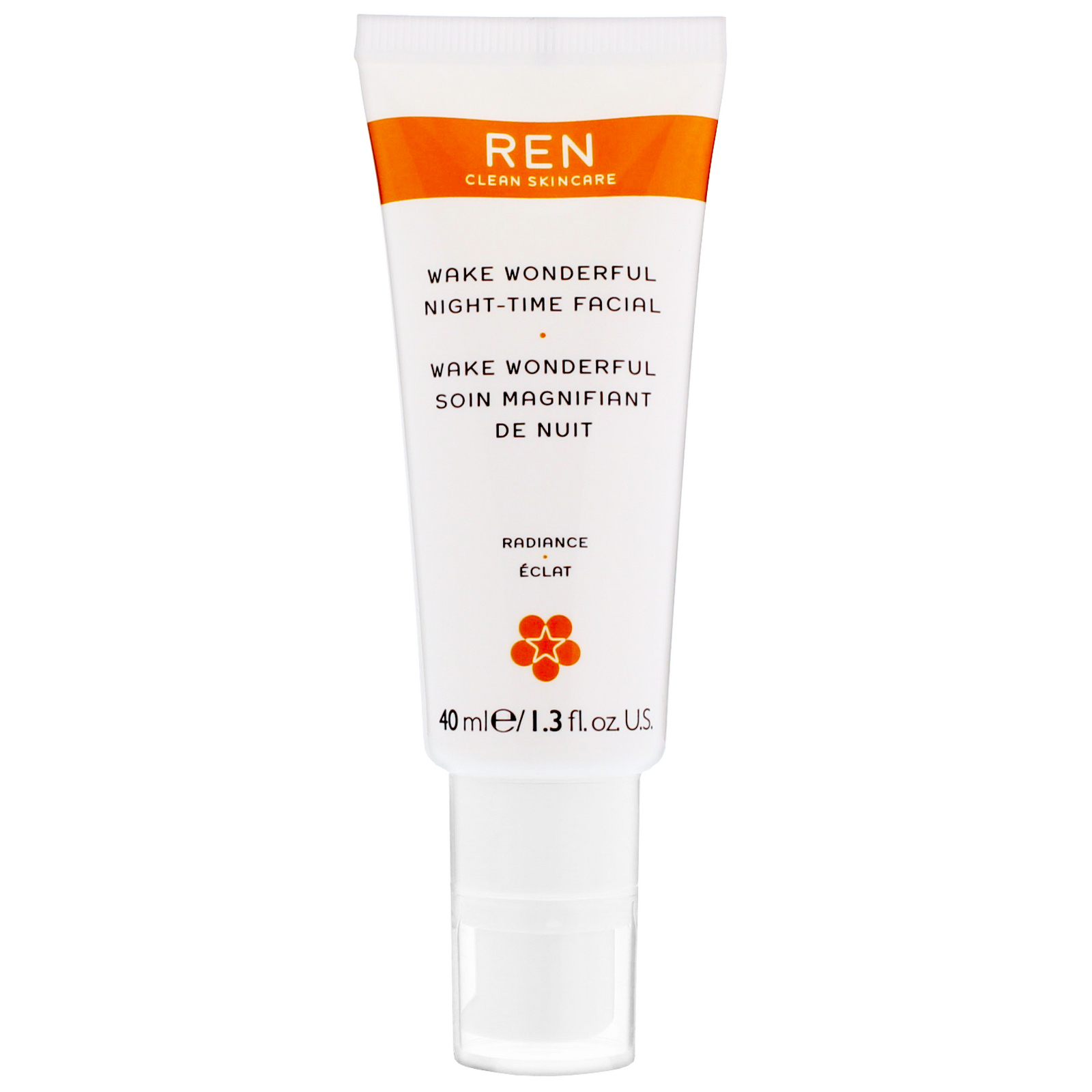 REN Clean Skincare Face Wake Wonderful Night-Time Facial 40ml / 1.3 fl.oz.