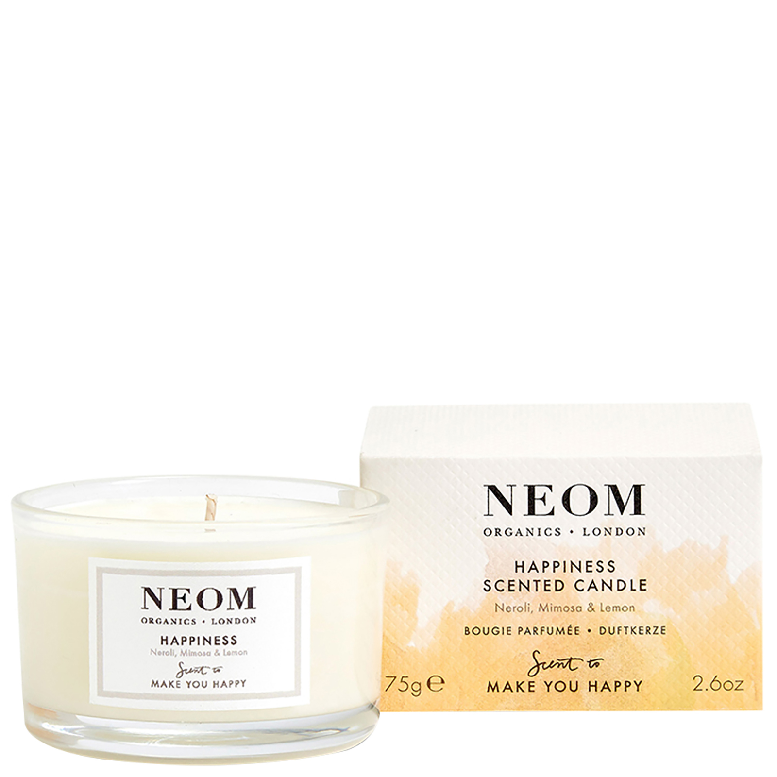Neom Organics London Scent To Make You Happy Happiness Scented Candle (Travel) 75g