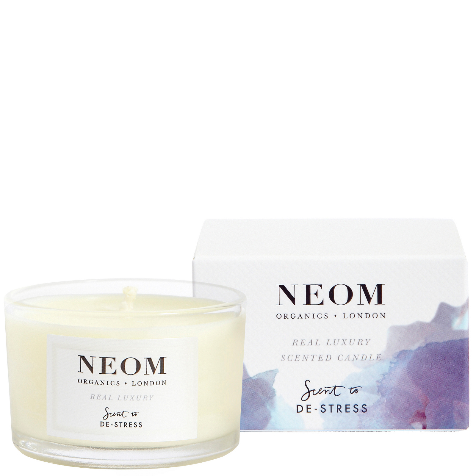 Neom Organics London Scent To De-Stress Real Luxury Candle (Travel) 75g
