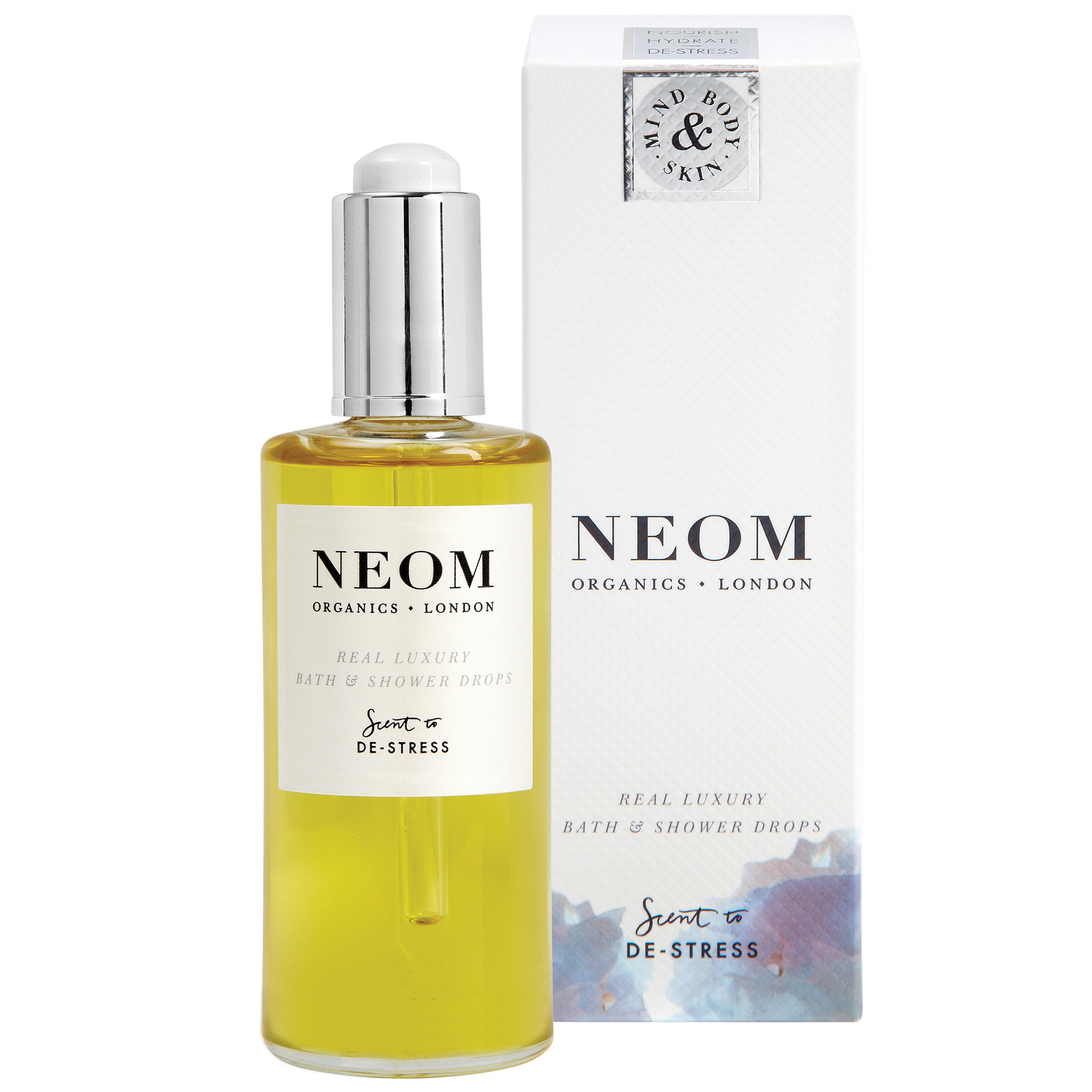 Neom Organics London Scent To De-Stress Real Luxury Bath & Shower Drops 100ml