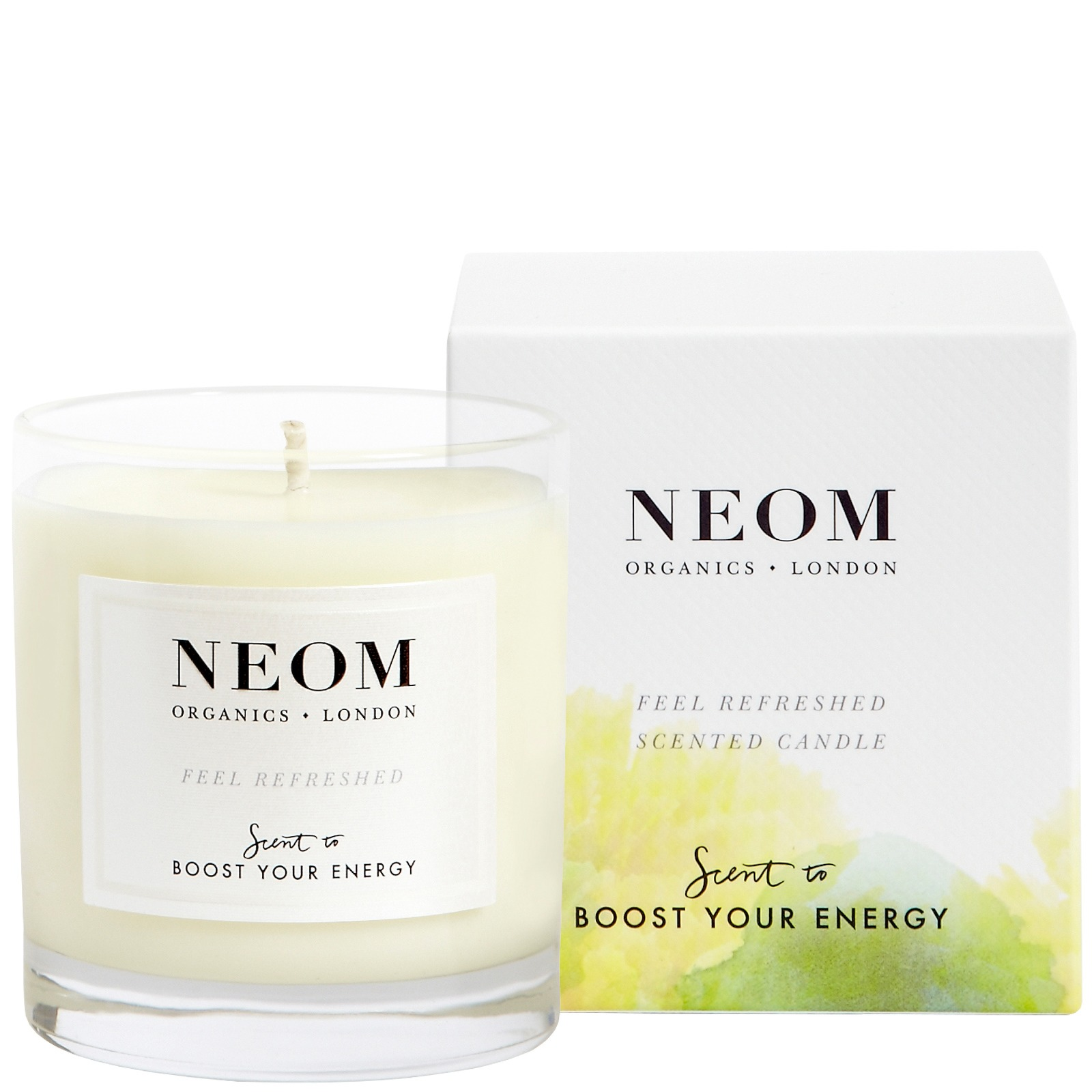 Neom Organics London Scent To Boost Your Energy Feel Refreshed Scented Candle (1 Wick) 185g