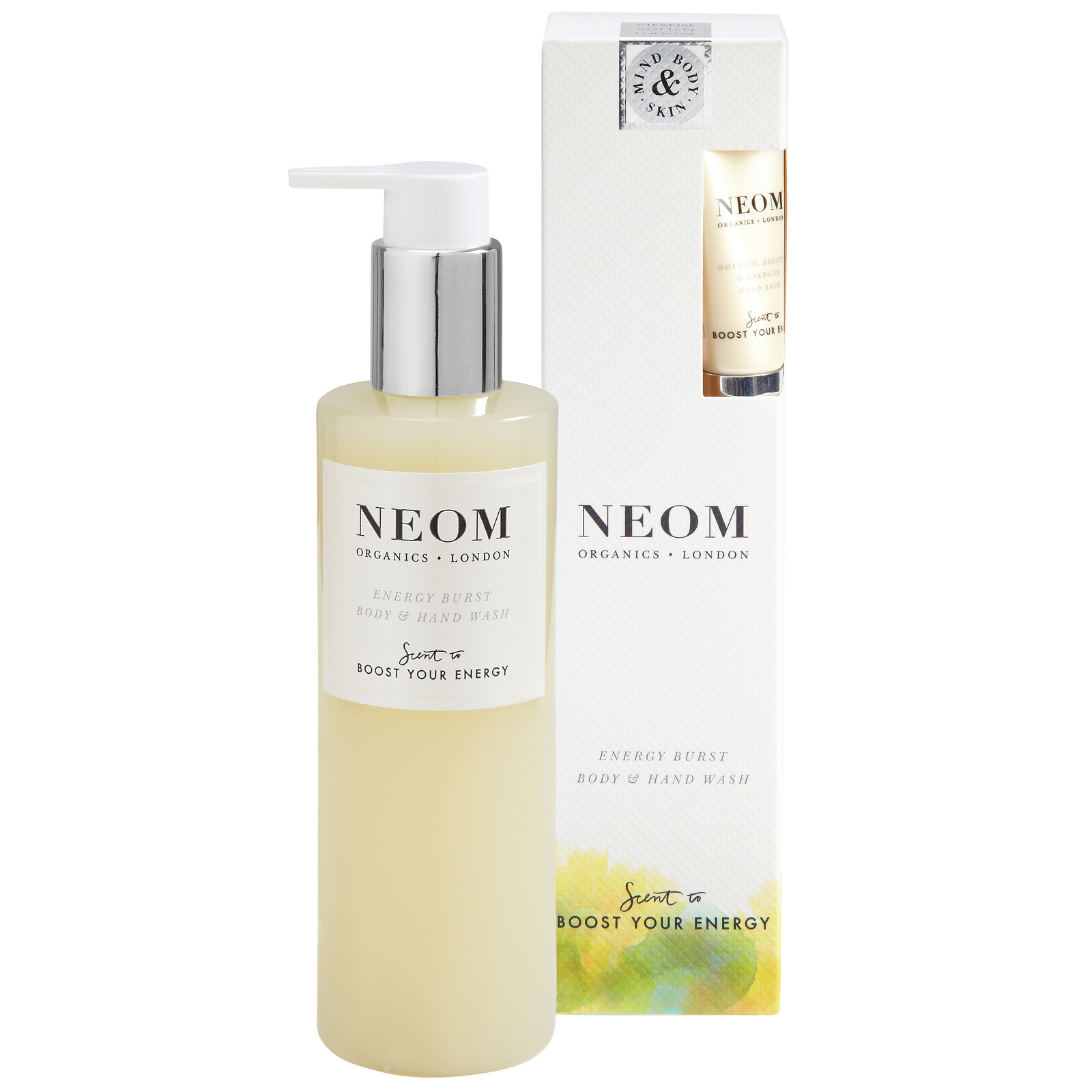 Neom Organics London Scent To Boost Your Energy Energy Burst Body & Hand Wash 250ml + Free Hand Balm 10ml