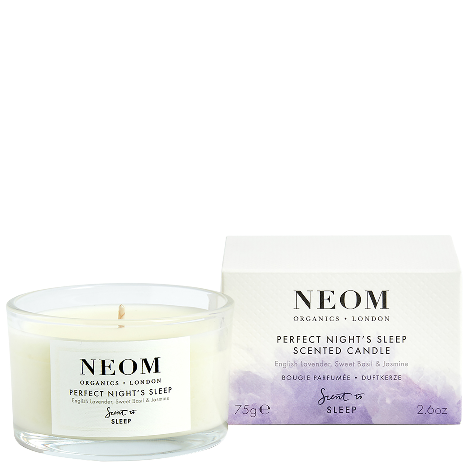Neom Organics London Scent To Sleep Tranquillity Scented Candle Deryan Toddler Luxe Cream Pueter Travel Sleeping Cot Bed 75g Gifts Sets