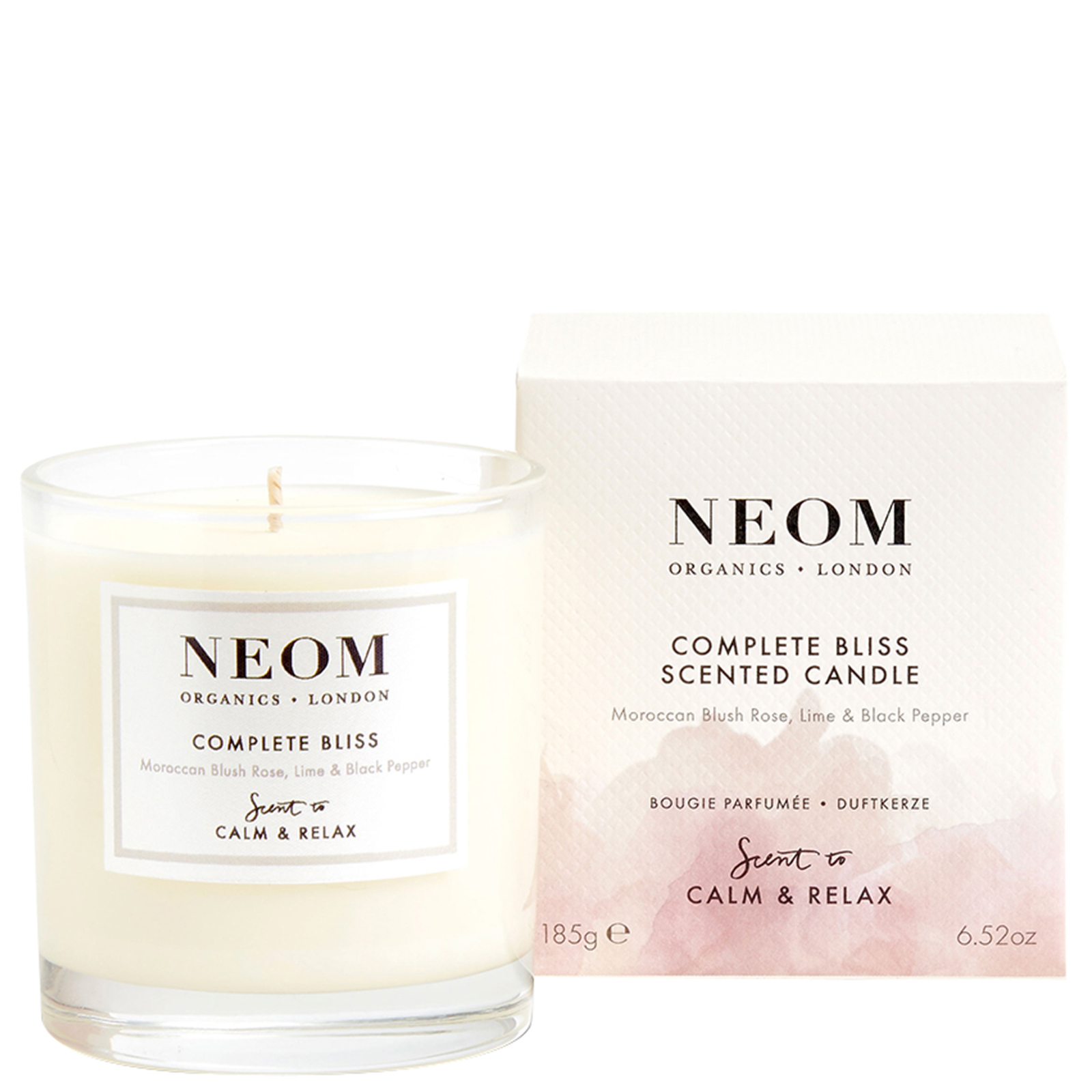 Neom Organics London Scent To Calm & Relax Complete Bliss Scented Candle (1 Wick) 185g