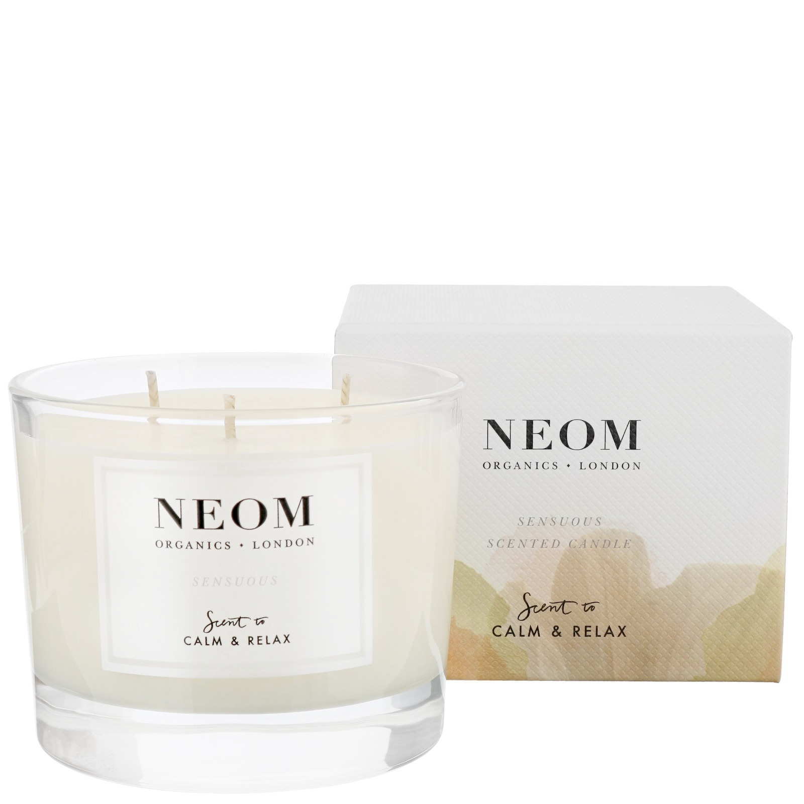 Neom Organics London Scent To Calm & Relax Sensuous Scented Candle (3 Wicks) 420g