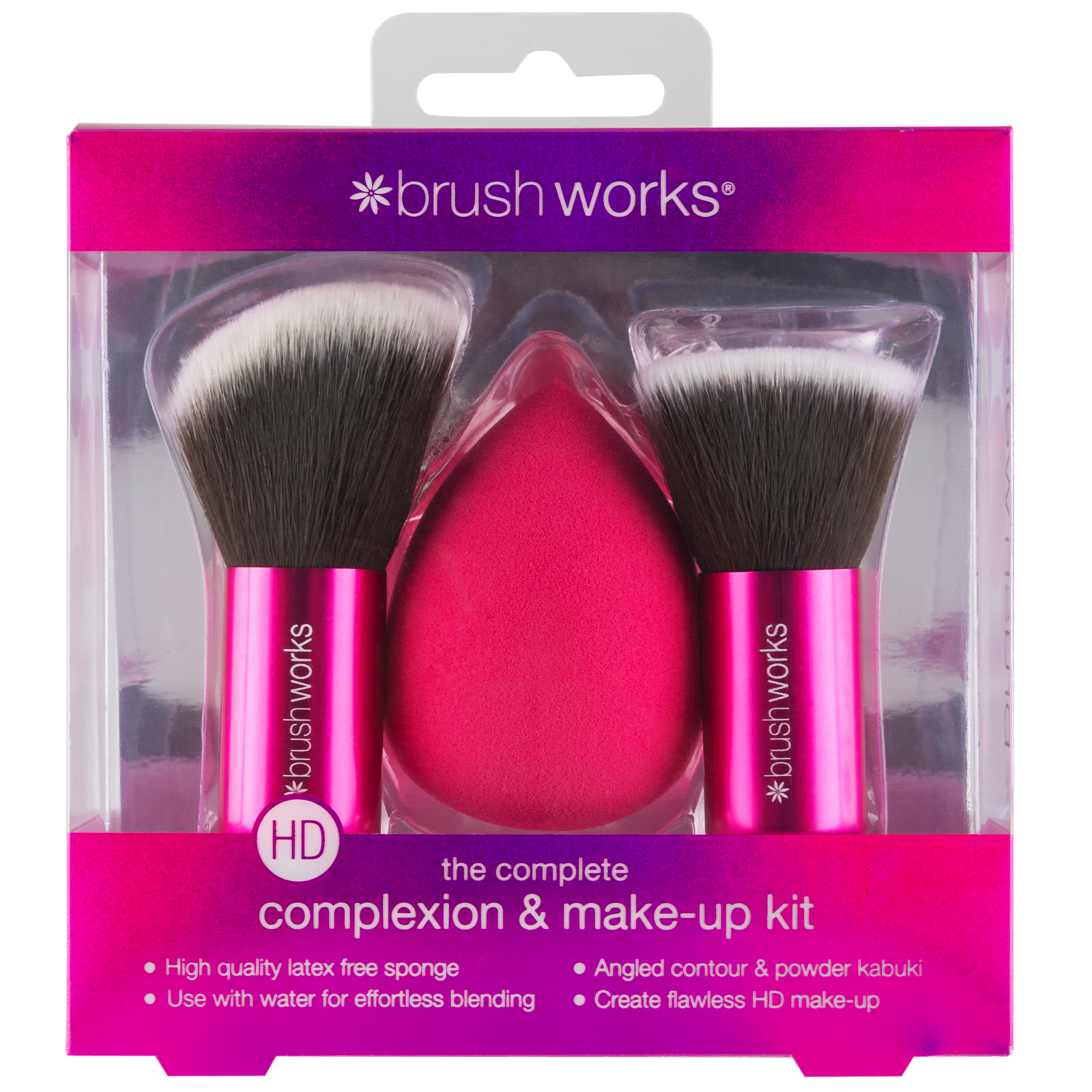 Brushworks Makeup Sponge HD Complexion & Make-up Kit