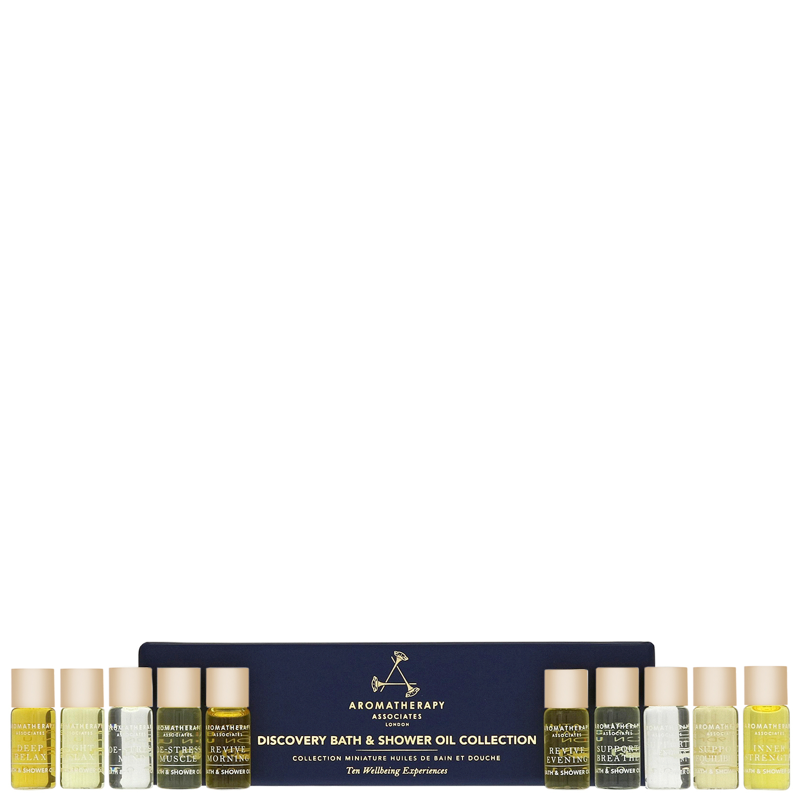 Aromatherapy Associates Gifting Discovery Bath & Shower Oil Collection 10 x 3ml