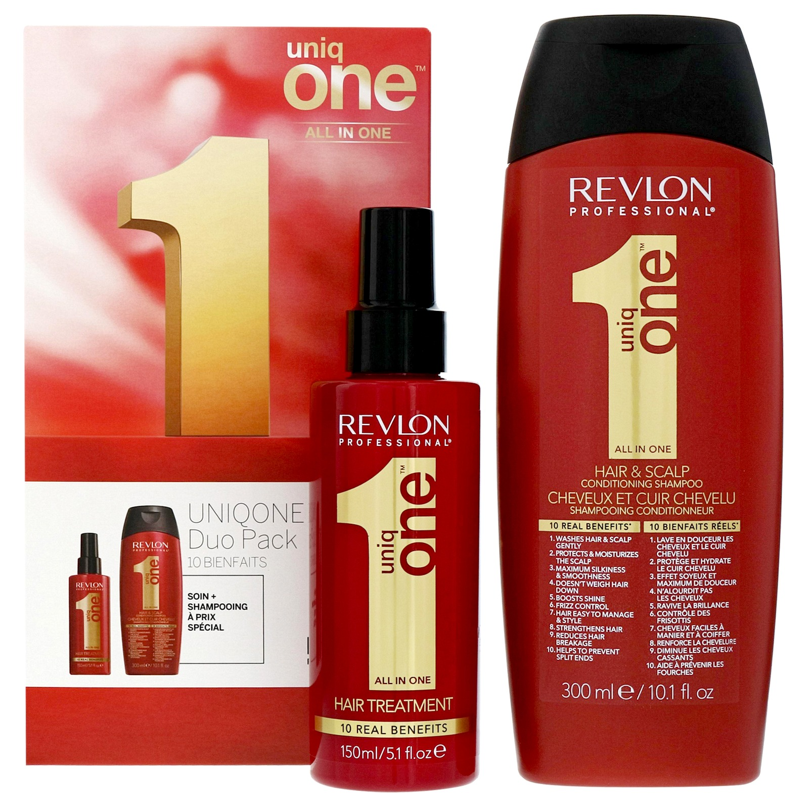 Revlon Professional Uniq One Classic Hair Treatment 150ml & Conditioning Hair & Scalp Shampoo 300ml