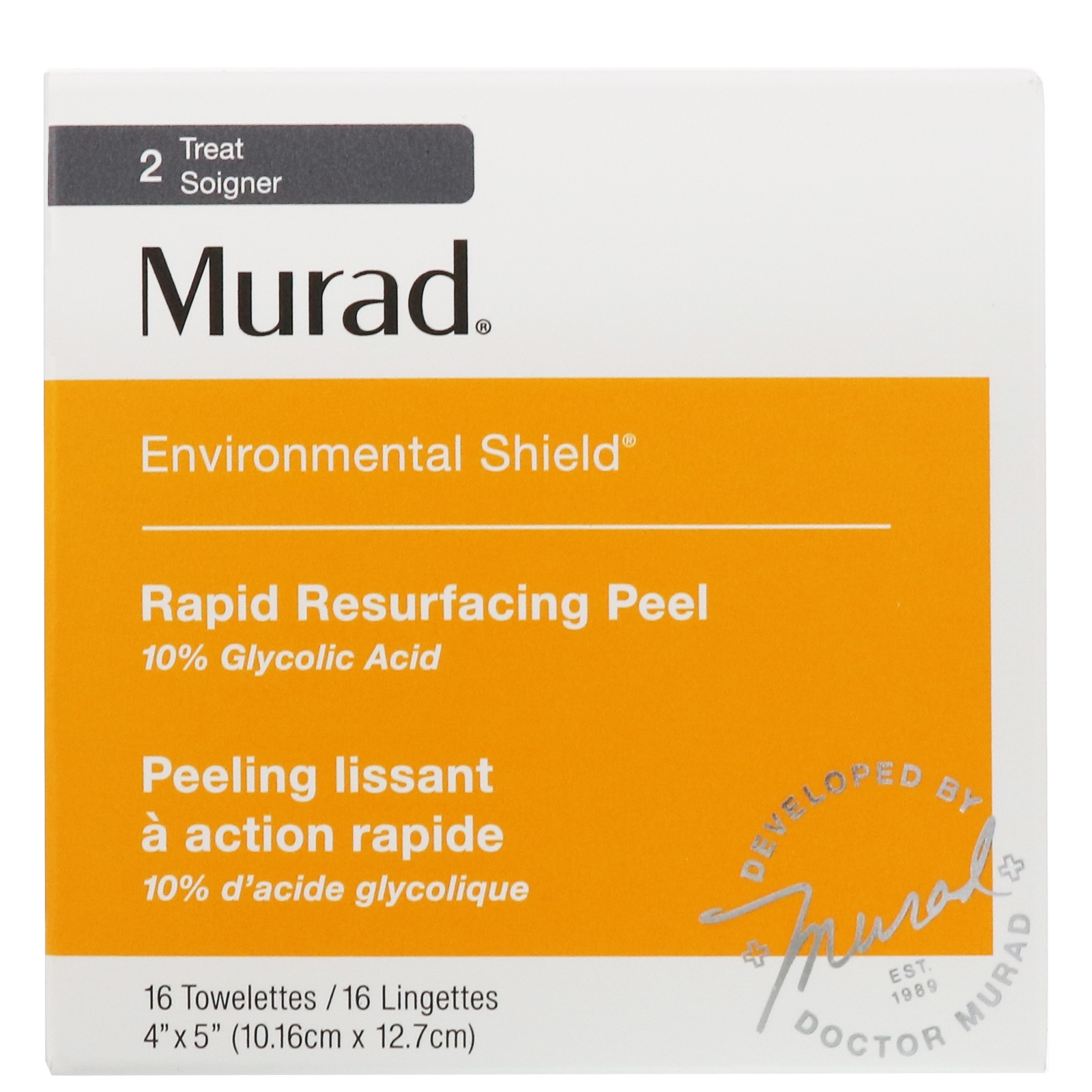 Murad Environmental Shield Rapid Resurfacing Peel, 16 Towelettes