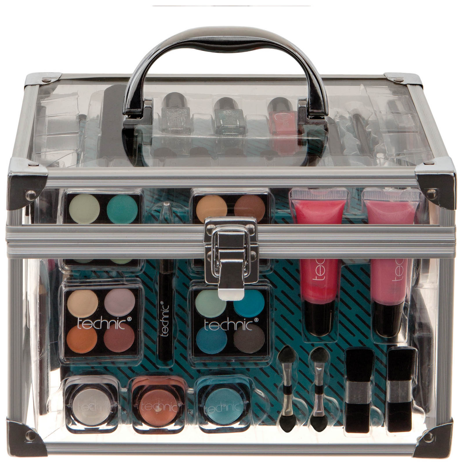 technic Gift Sets Essential Cosmetics Large Clear Carry Case