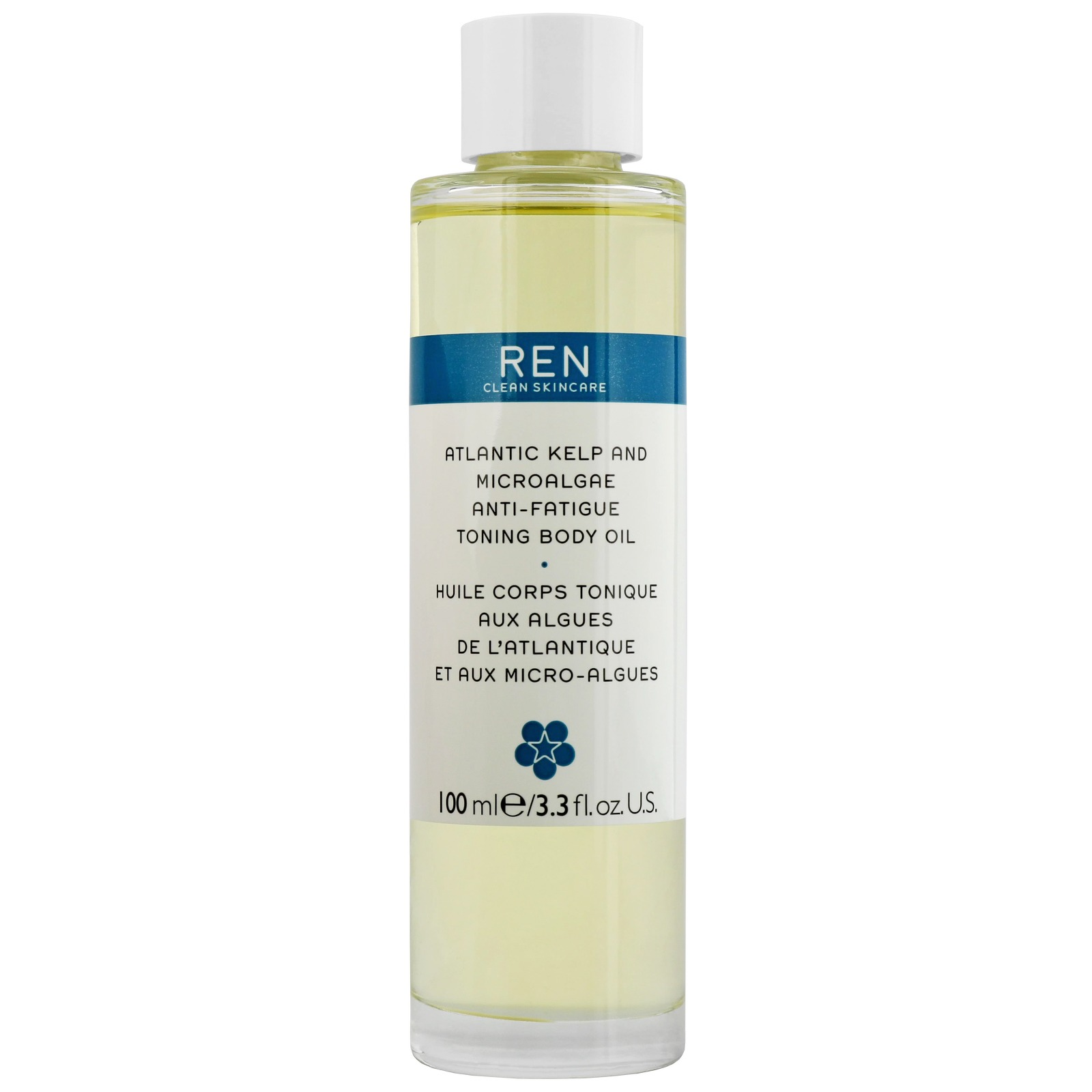 REN Clean Skincare Body  Atlantic Kelp and Microalgae Anti-Fatigue Toning Body Oil 100ml / 3.3 fl.oz.