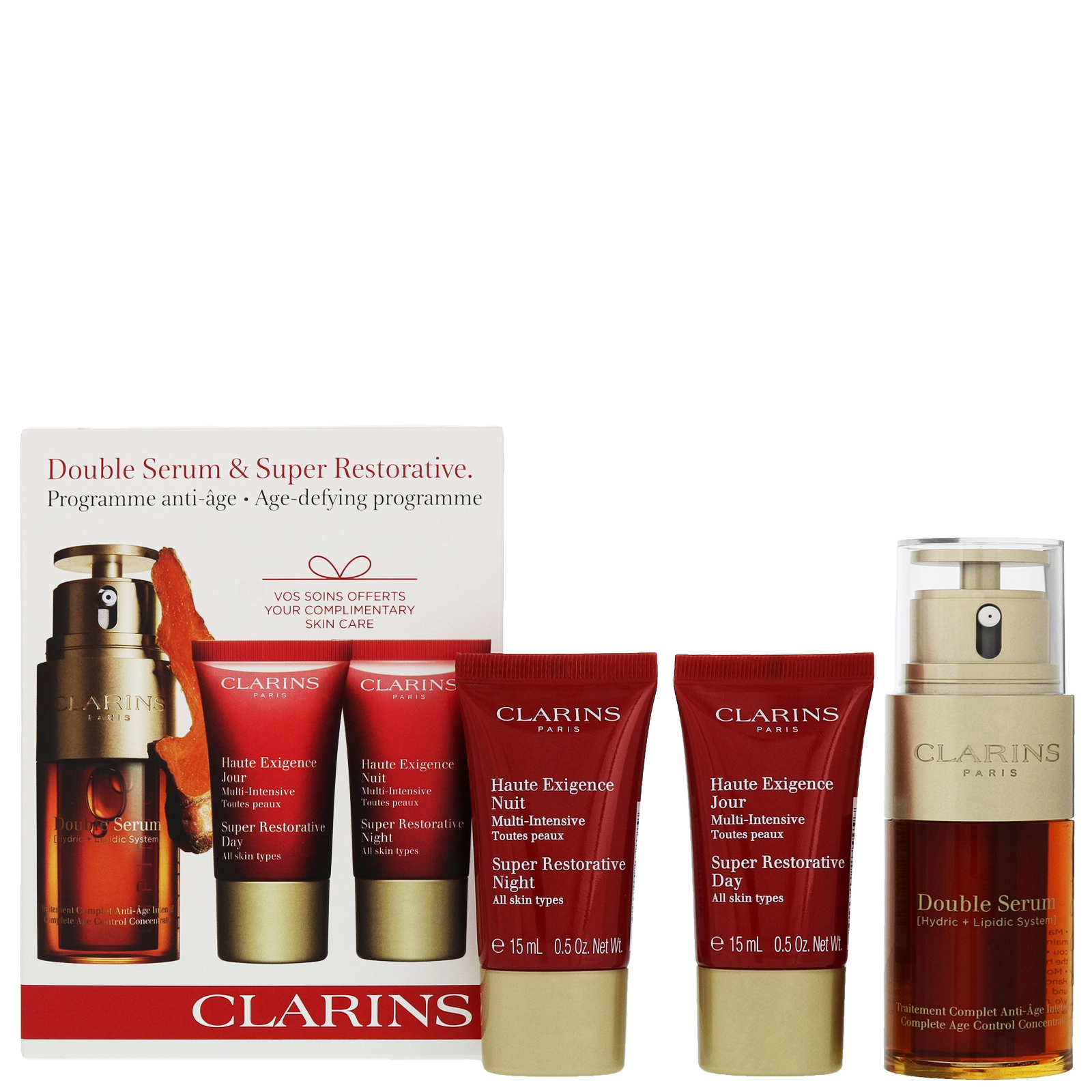 Clarins Gifts & Sets Double Serum 30ml, Multi Intensive Day Cream 15ml & Multi Intensive Night Cream 15ml