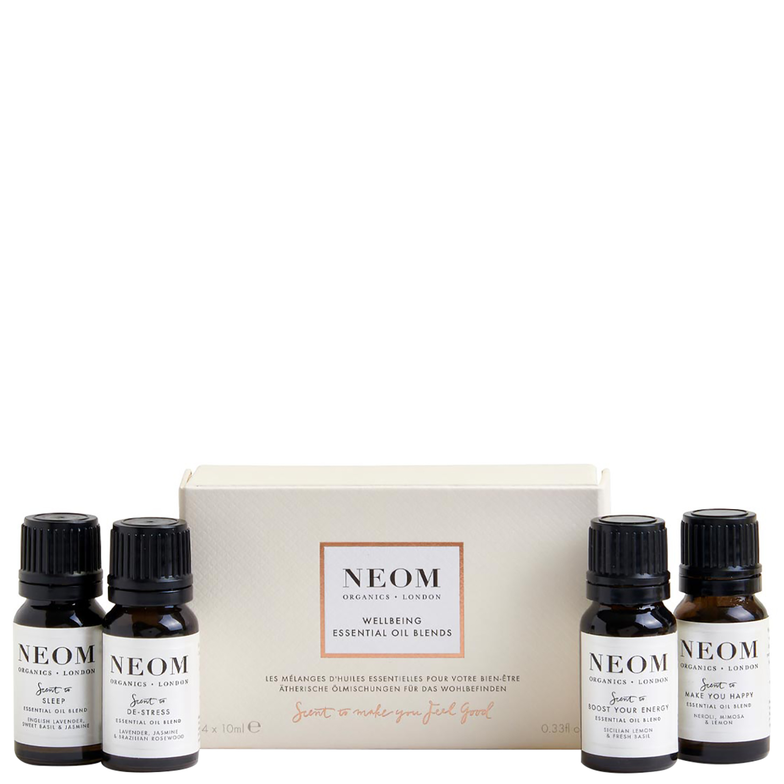 Neom Organics London Gifting & Accessories Wellbeing Essential Oil Blends 4 x 10ml