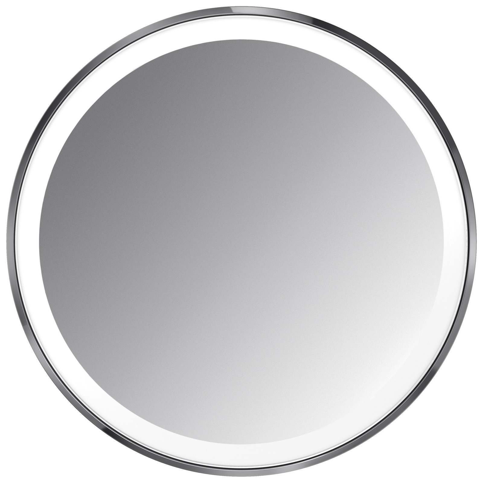 simplehuman Sensor Mirrors 3 x Magnification 10cm Sensor Mirror Compact: Round, Black Stainless Steel, Rechargeable with Pouch