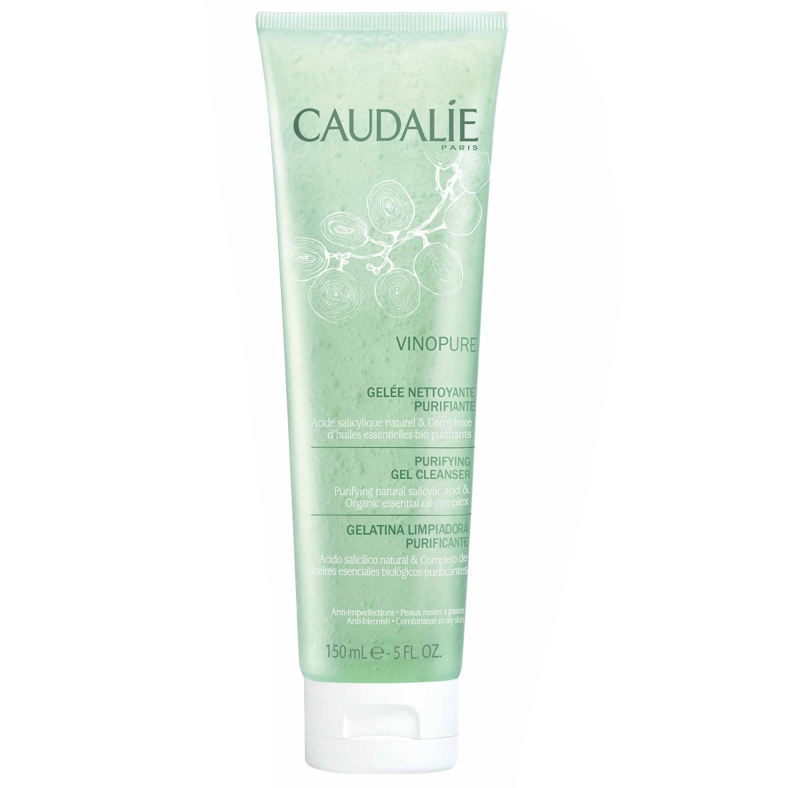Caudalie Cleansers & Toners Vinopure Purifying Gel Cleanser 150ml