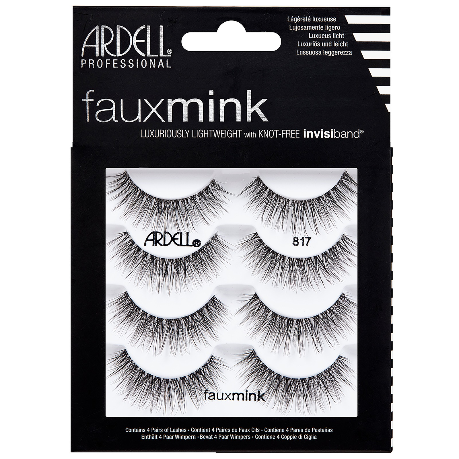 Ardell Multipack Faux Mink 817 Pack of 4