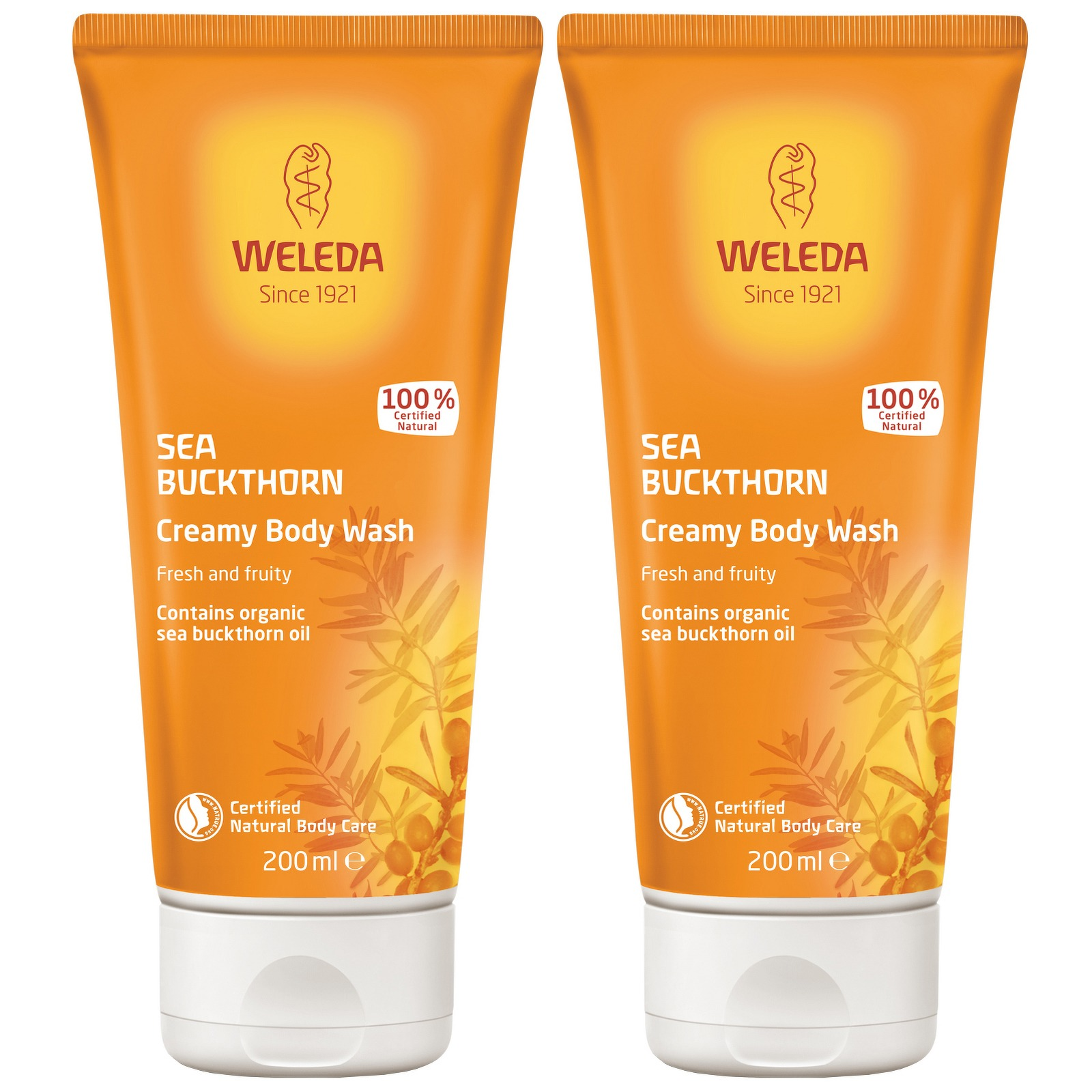 Weleda Body Care Sea Buckthorn Creamy Body Wash 200ml x 2