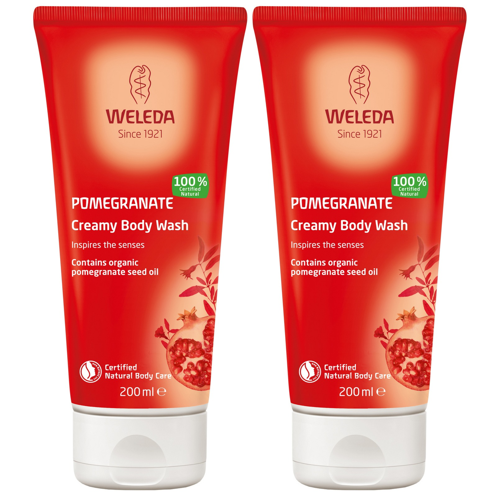 Weleda Body Care Pomegranate Creamy Body Wash 200ml x 2