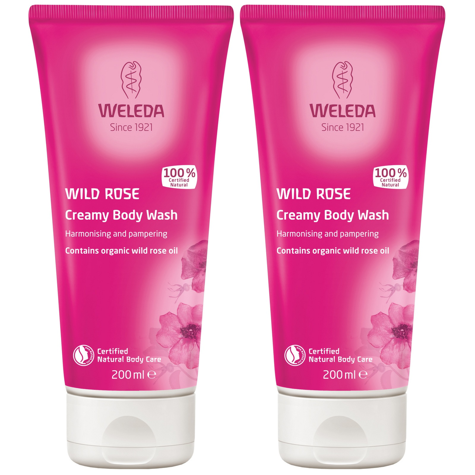 Weleda Body Care Wild Rose Creamy Body Wash 200ml x 2
