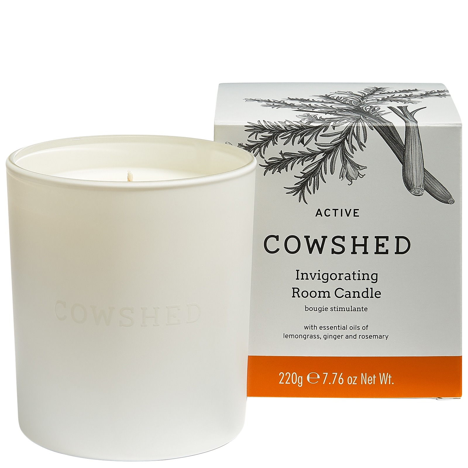 Cowshed At Home Active Invigorating Room Candle 220g