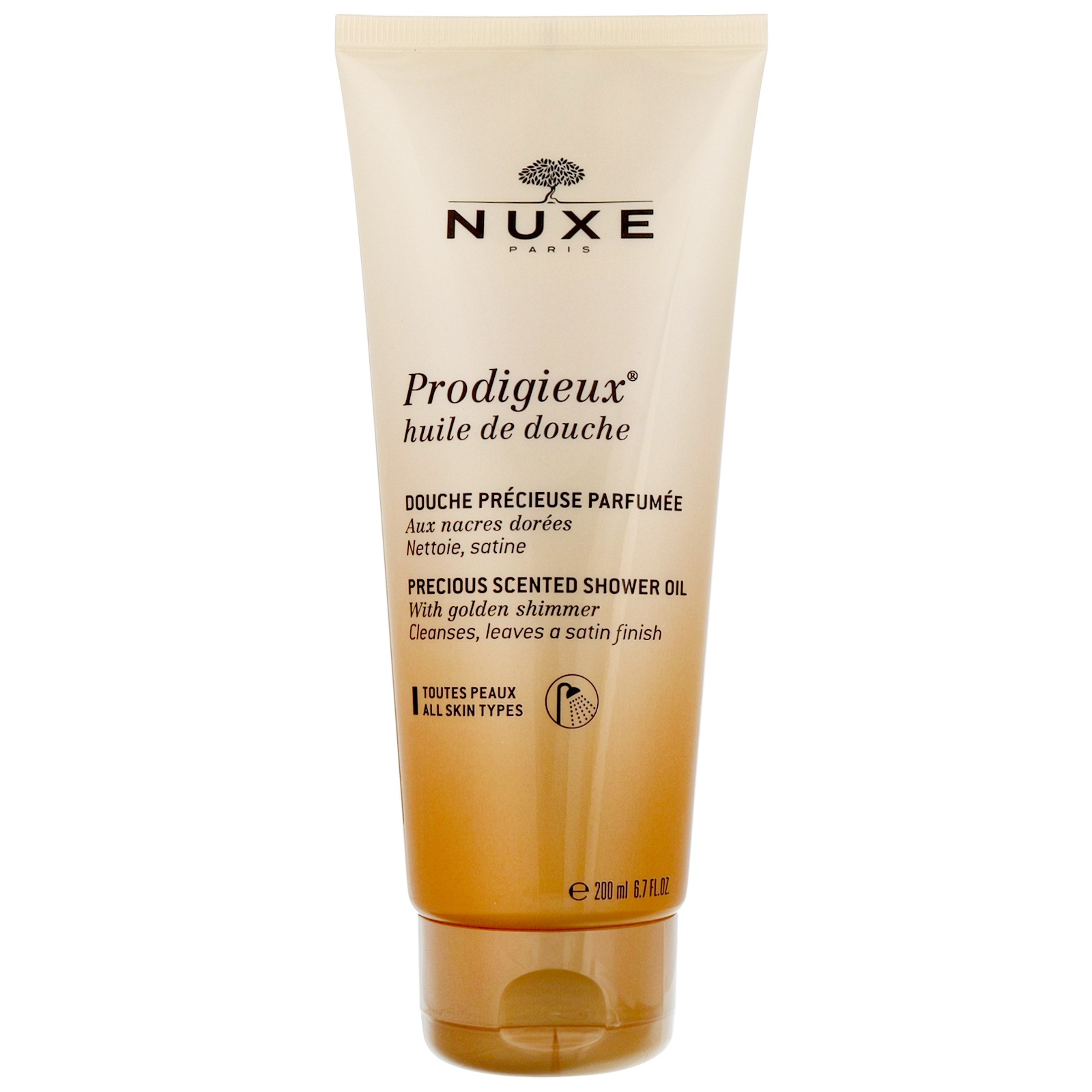Nuxe Prodigieux Precious Scented Shower Oil With Golden Shimmer 200ml