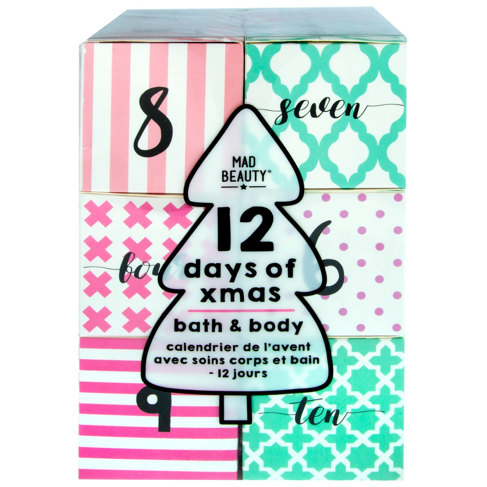 Mad Beauty Christmas 2020 12 Days of Xmas Bath & Body Calendar