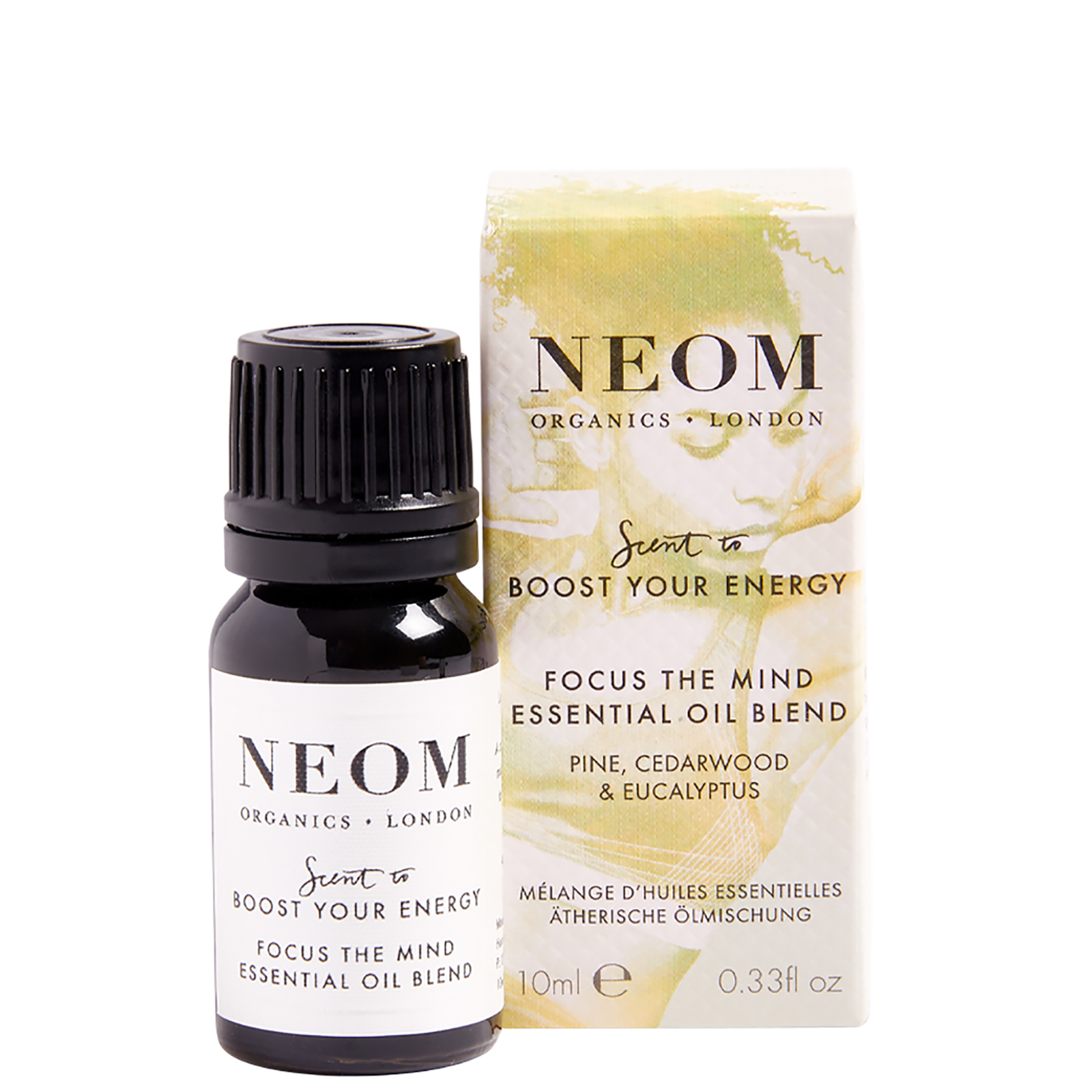 Neom Organics London Scent To Boost Your Energy Focus the Mind Essential Oil Blend 10ml