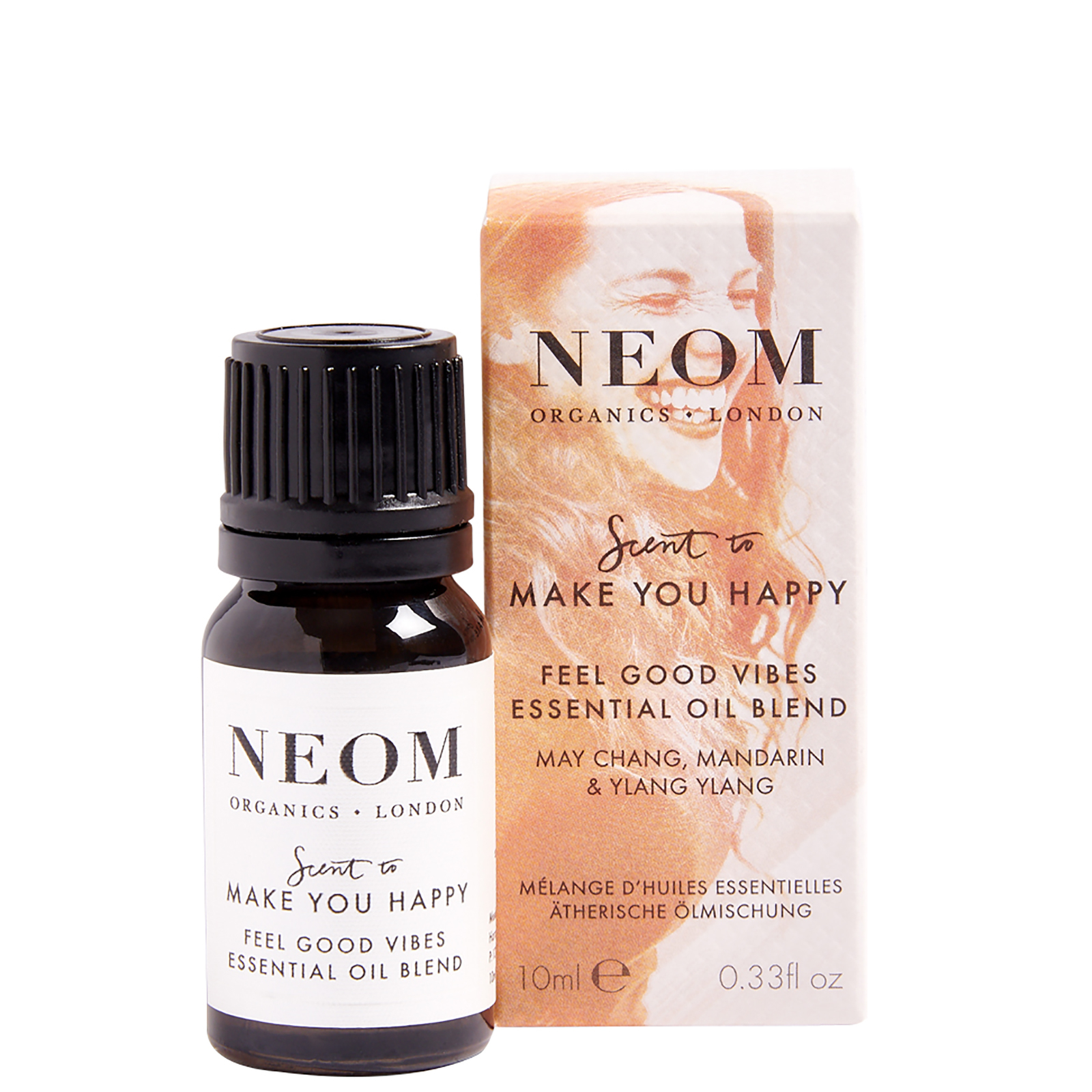 Neom Organics London Scent To Make You Happy Feel Good Vibes Essential Oil Blend 10ml