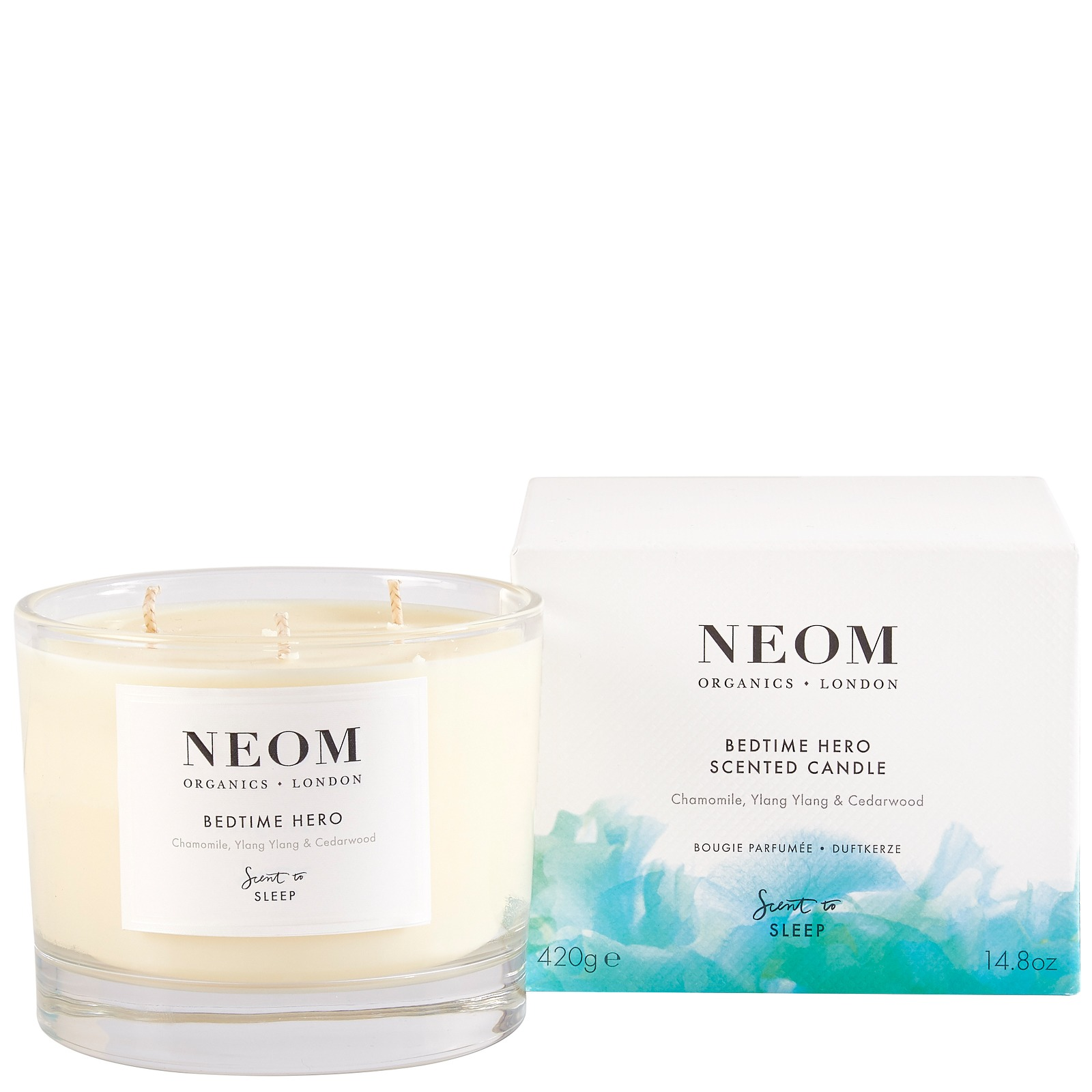 Neom Organics London Scent To Sleep Bedtime Hero 3 Wick Candle (3 Wick) 420g