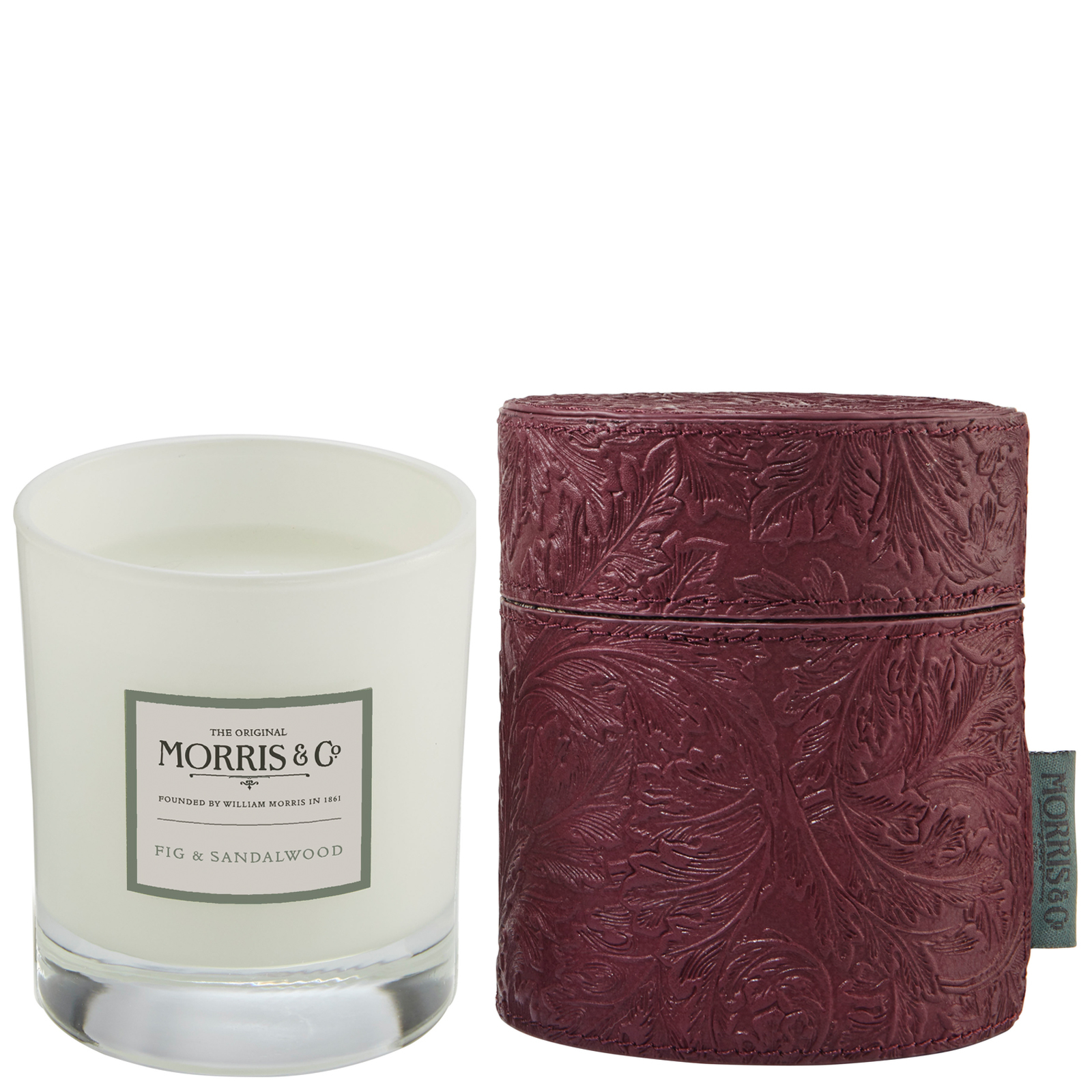 MORRIS & Co Fig & Sandalwood Scented Candle in Fabric Drum 180g