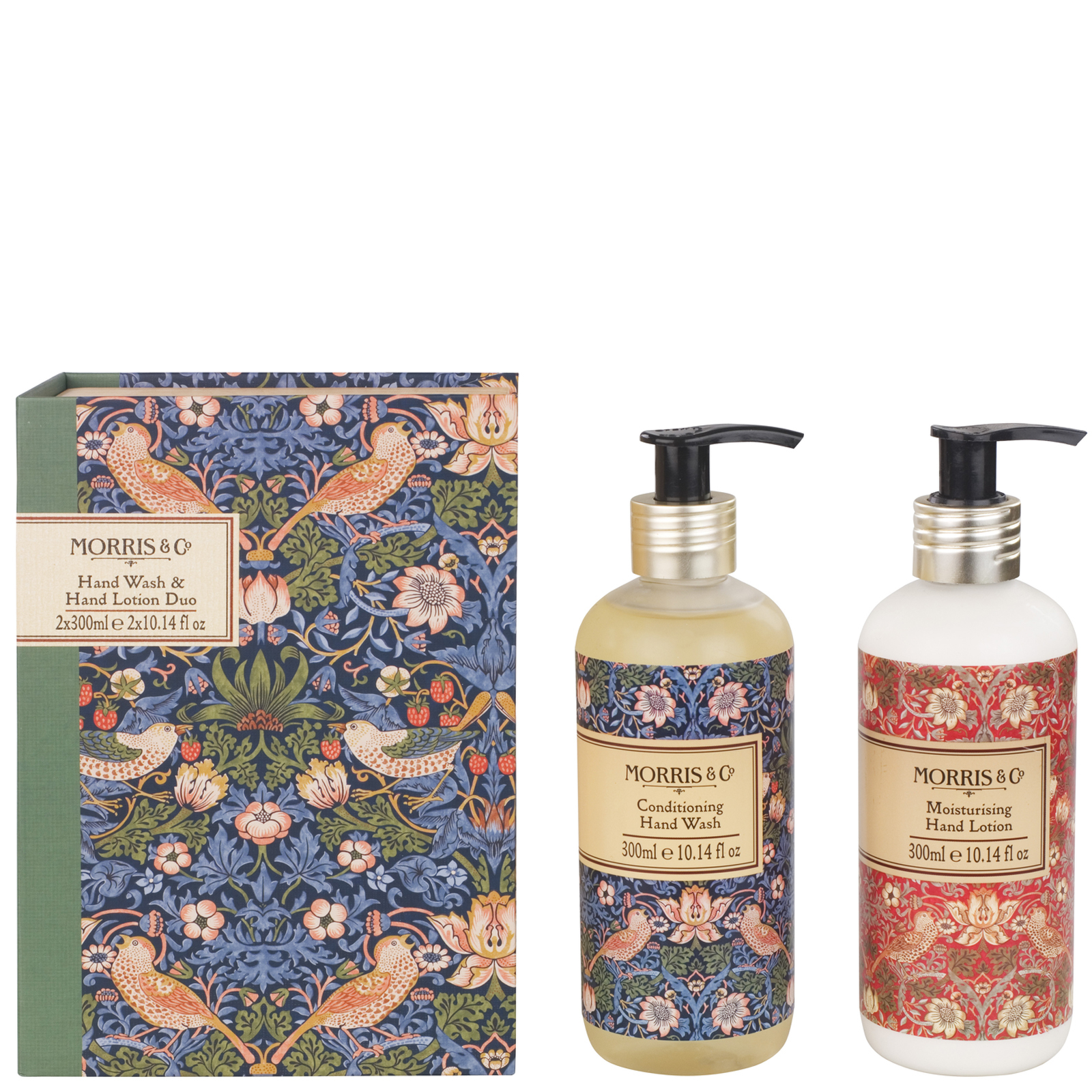 MORRIS & Co Strawberry Thief Hand Wash & Hand Lotion Duo 2 x 300ml