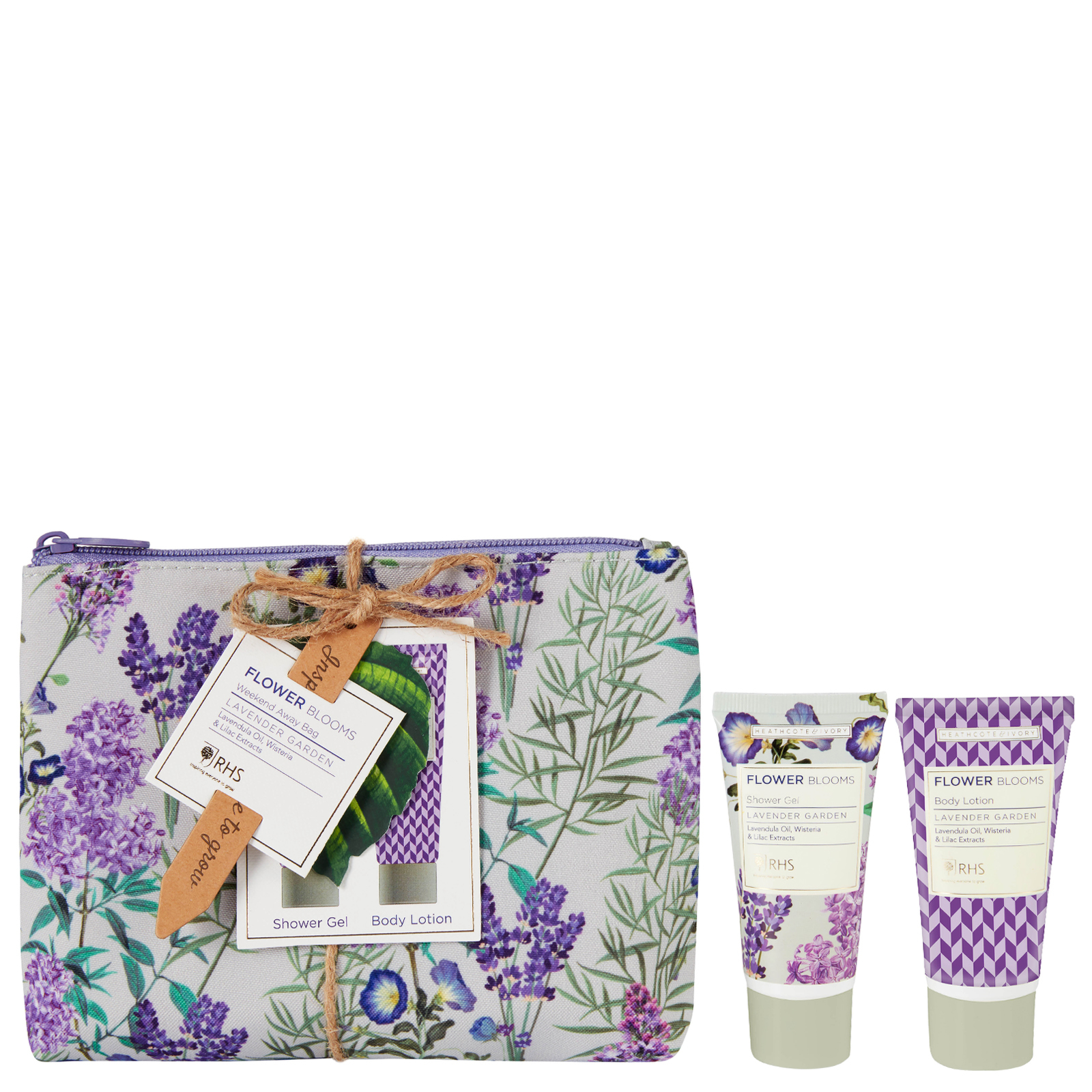 RHS Flower Blooms Lavender Garden Weekend Away Bag