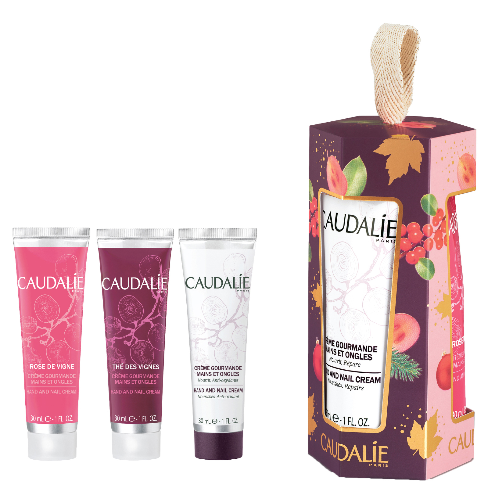 Caudalie Christmas 2020 Luxury Hand Cream Trio