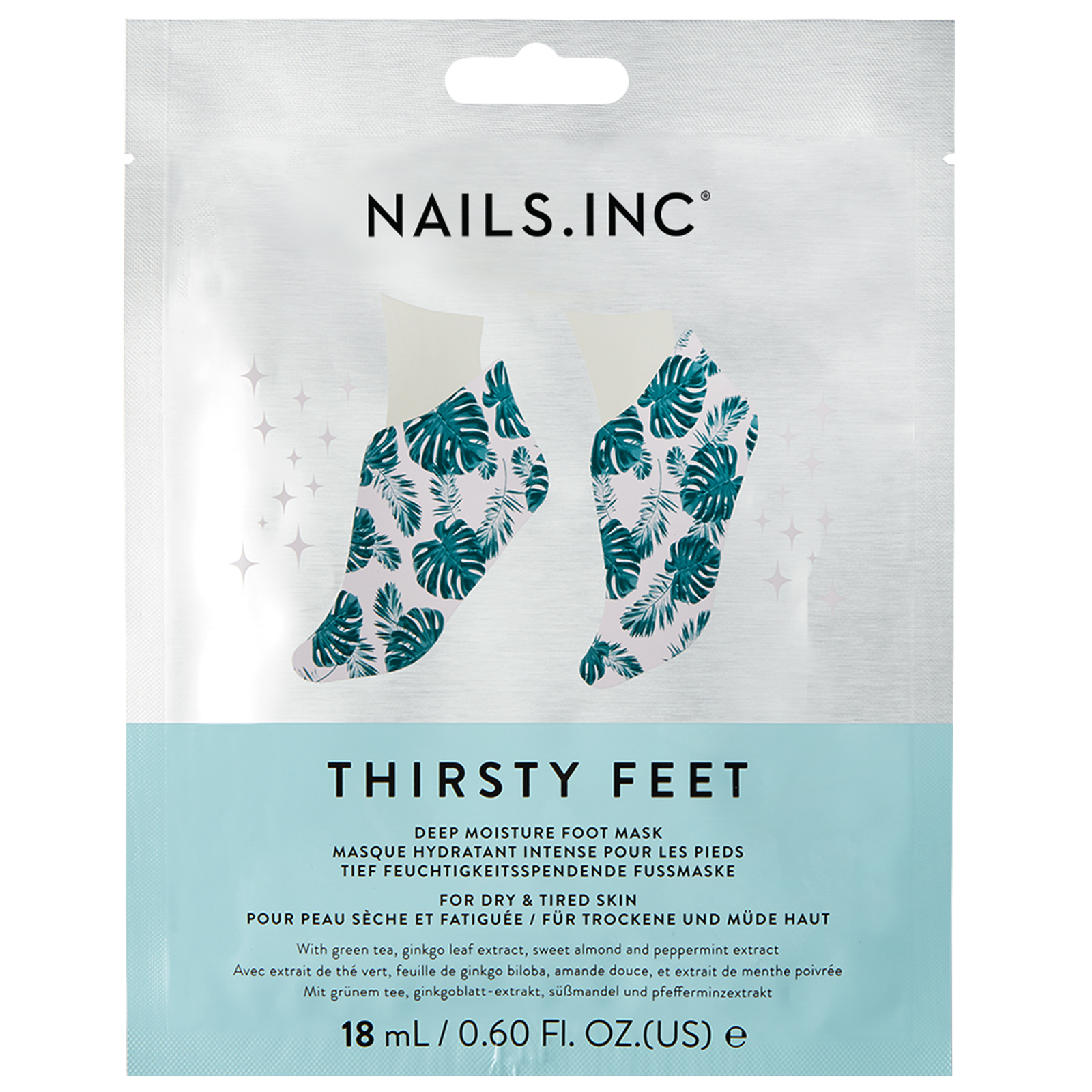 NAILS.INC Hydrating Thirsty Feet Mask 18ml