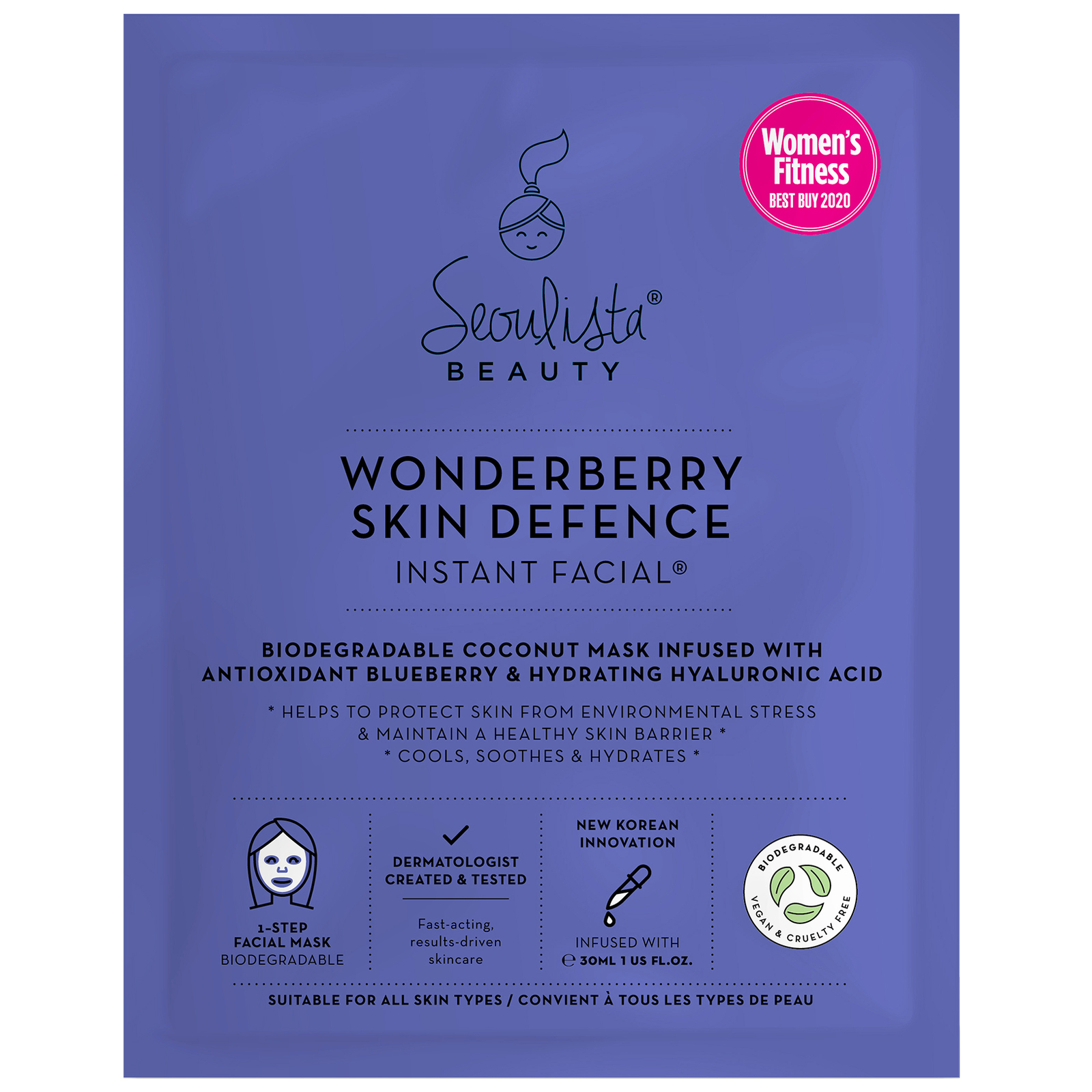 Seoulista Beauty Instant Facials Wonderberry Skin Defence Instant Facial